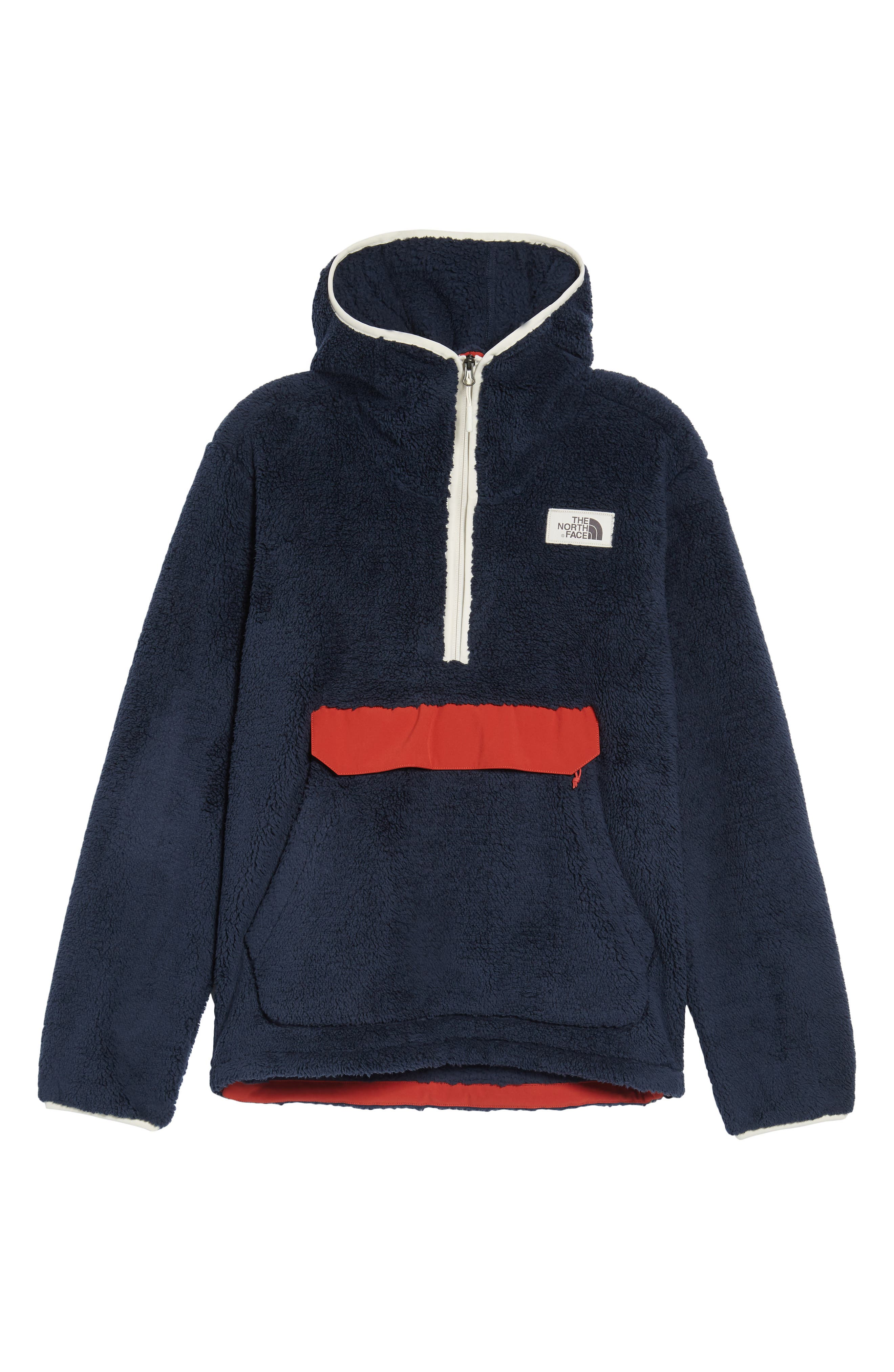 Campshire High Pile Fleece Pullover Hoodie,                             Alternate thumbnail 6, color,                             401