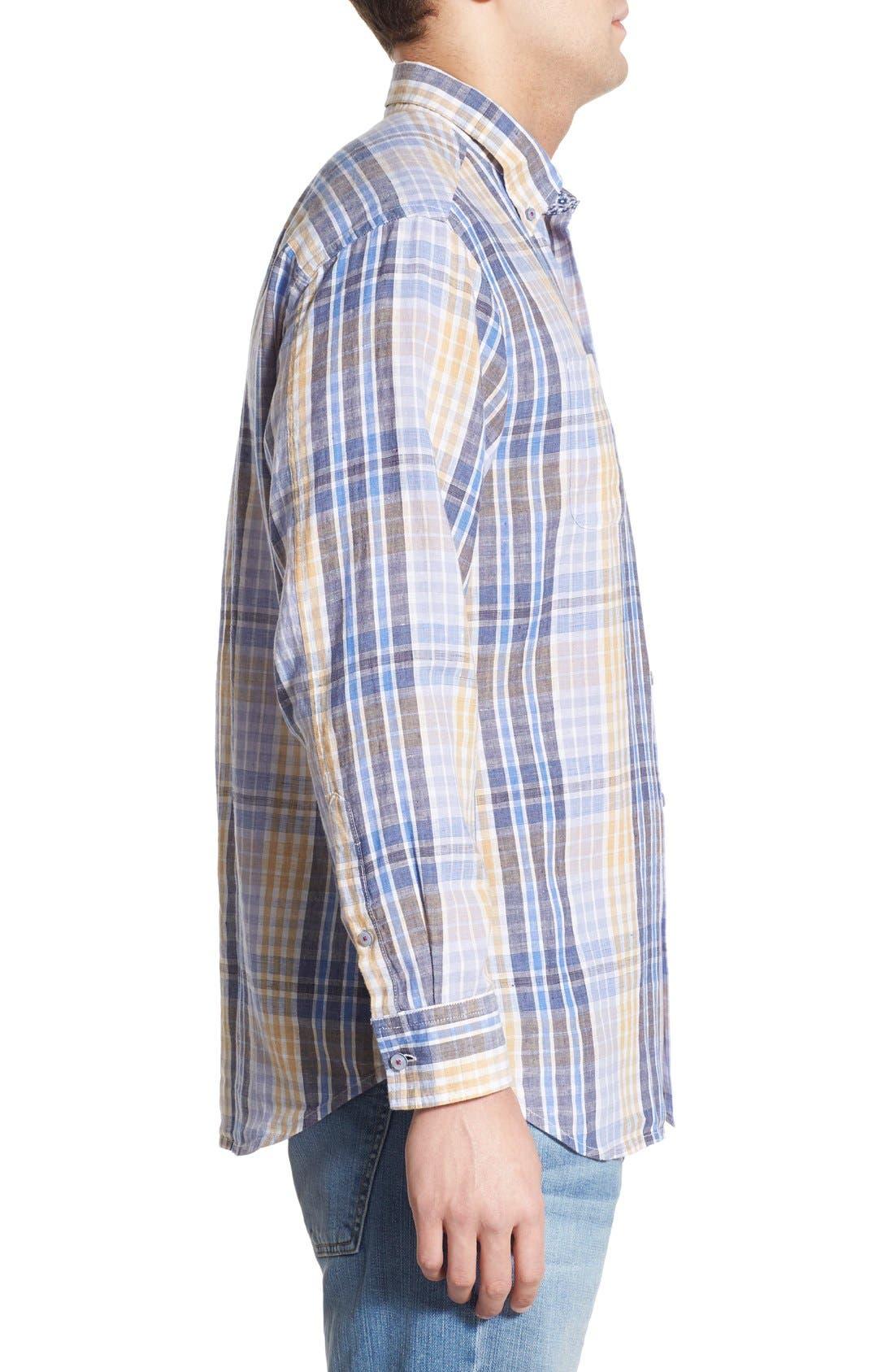 'Sun Direction' Regular Fit Plaid Sport Shirt,                             Alternate thumbnail 6, color,