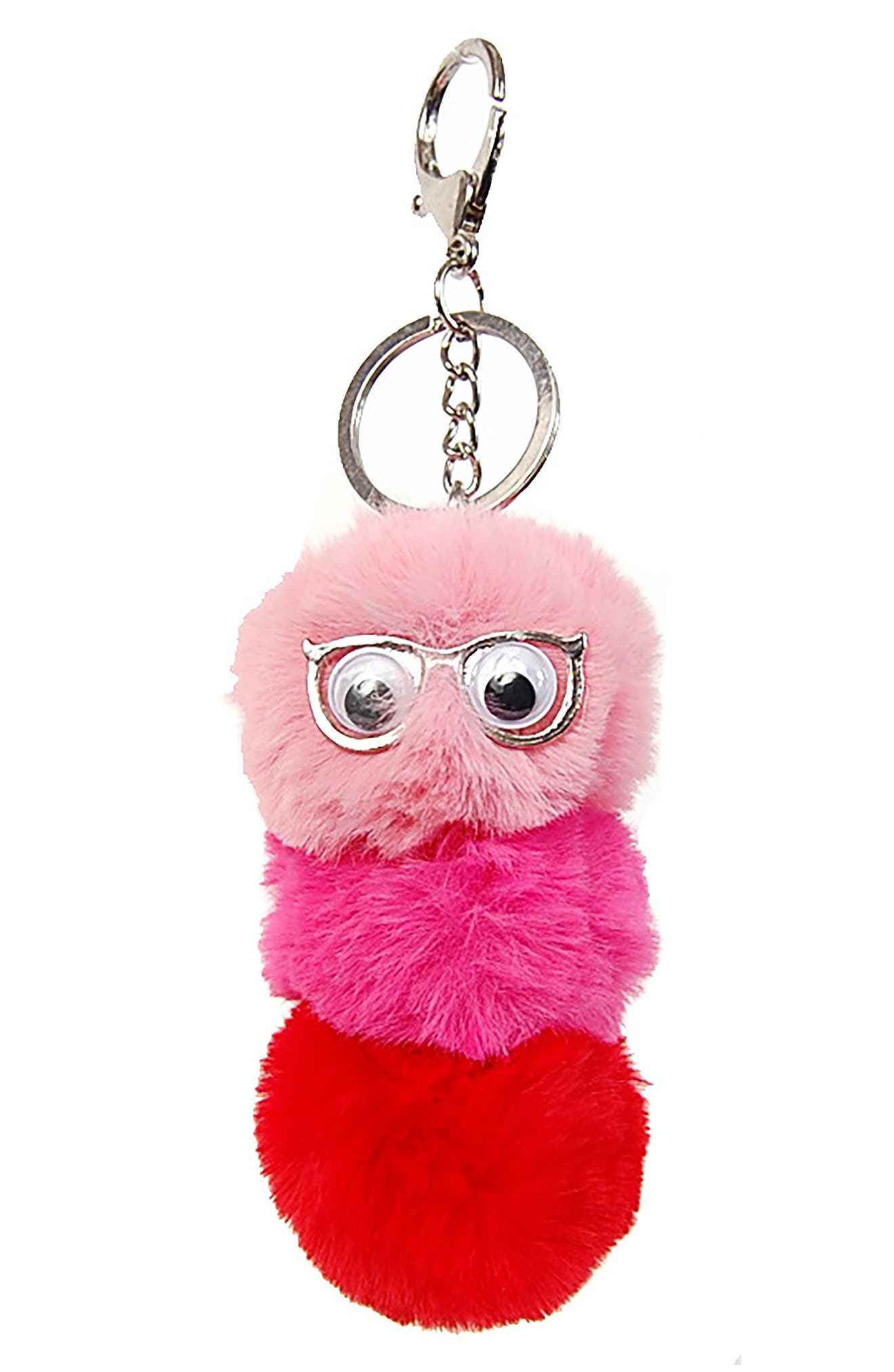 Googly Eye Bag/Backpack Charm,                             Main thumbnail 1, color,                             PINK