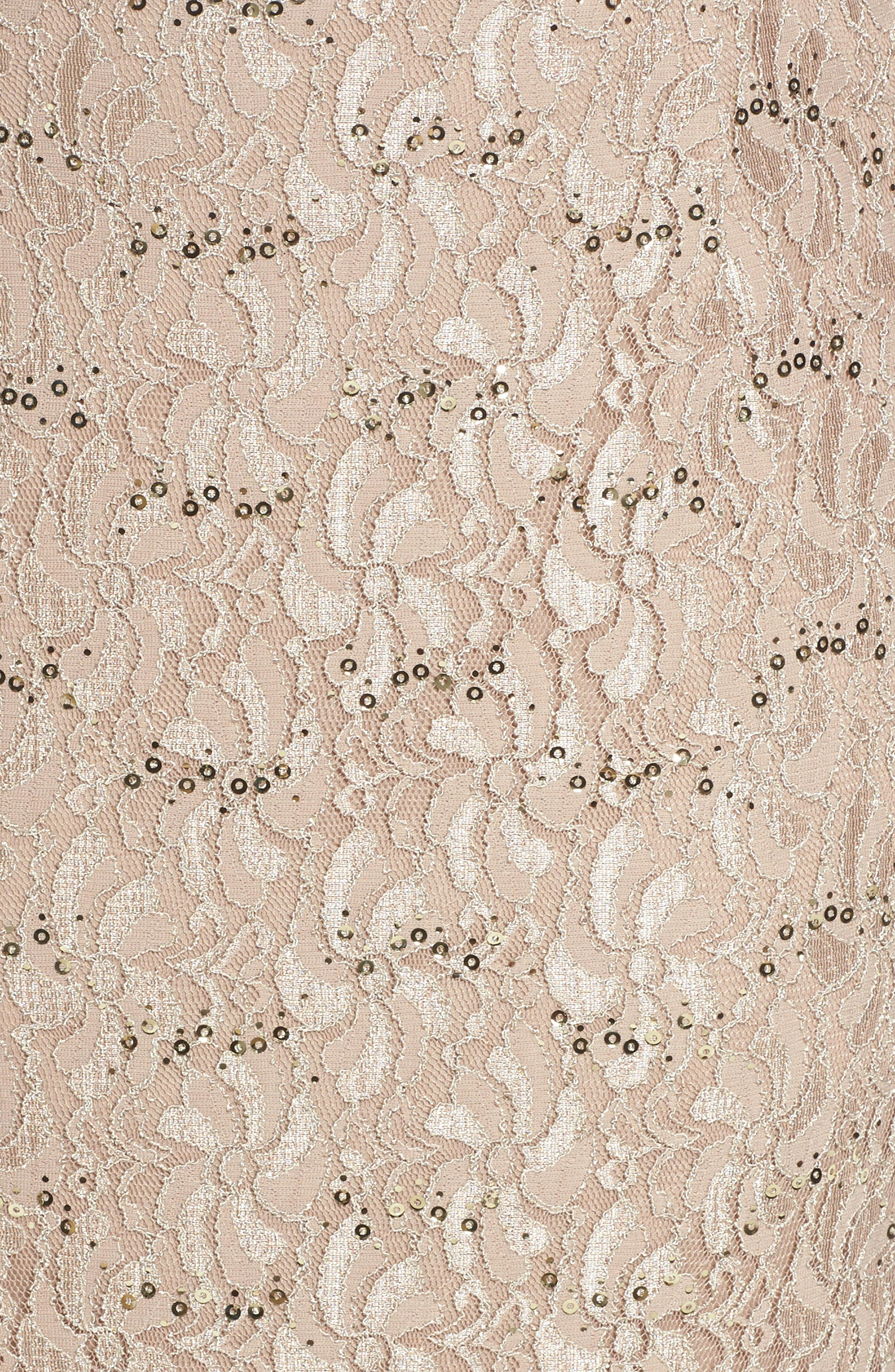 Sequin Lace Gown & Jacket,                             Alternate thumbnail 5, color,                             251