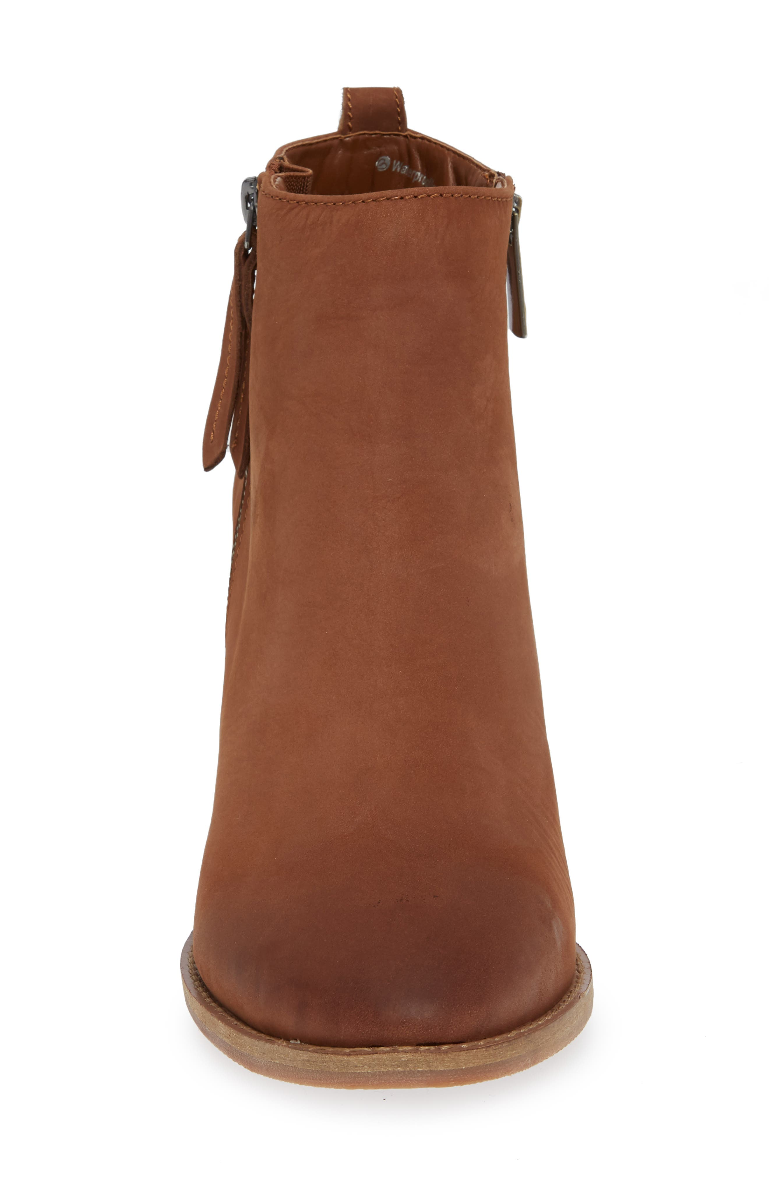 Nova Waterproof Bootie,                             Alternate thumbnail 4, color,                             COGNAC NUBUCK