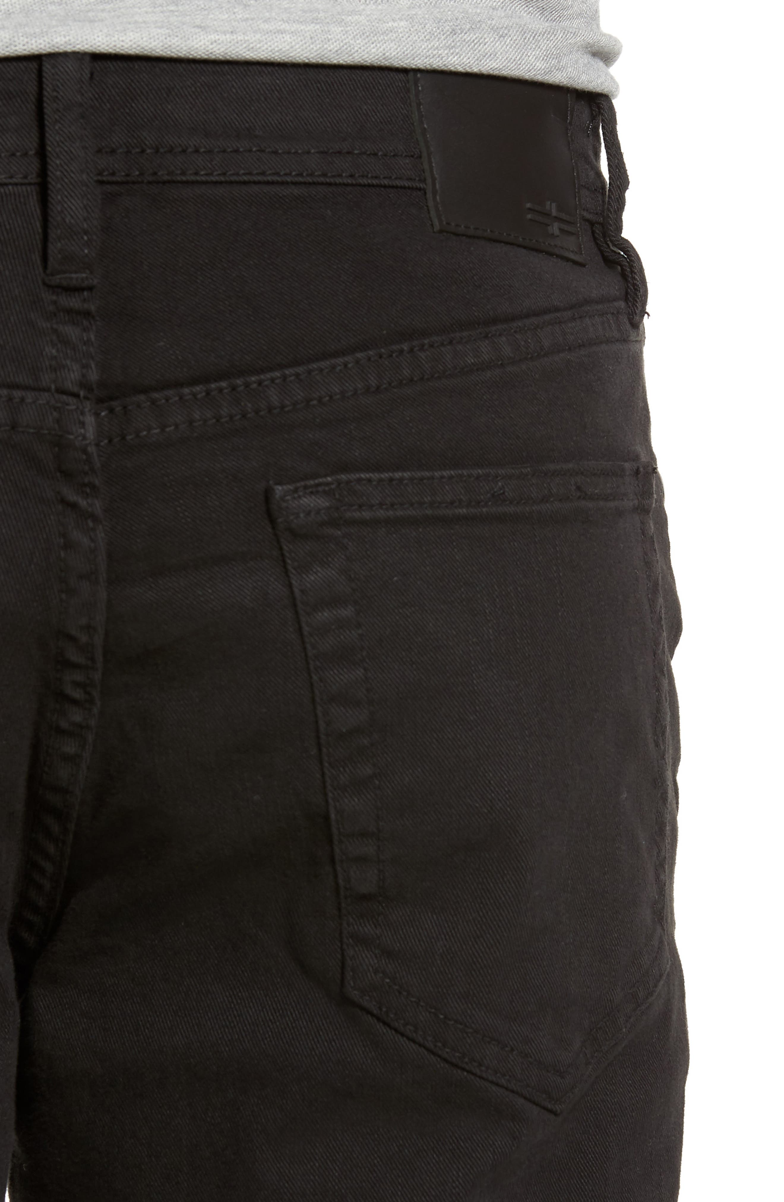 Jeans Co. Regent Relaxed Fit Jeans,                             Alternate thumbnail 4, color,                             BLACK RINSE