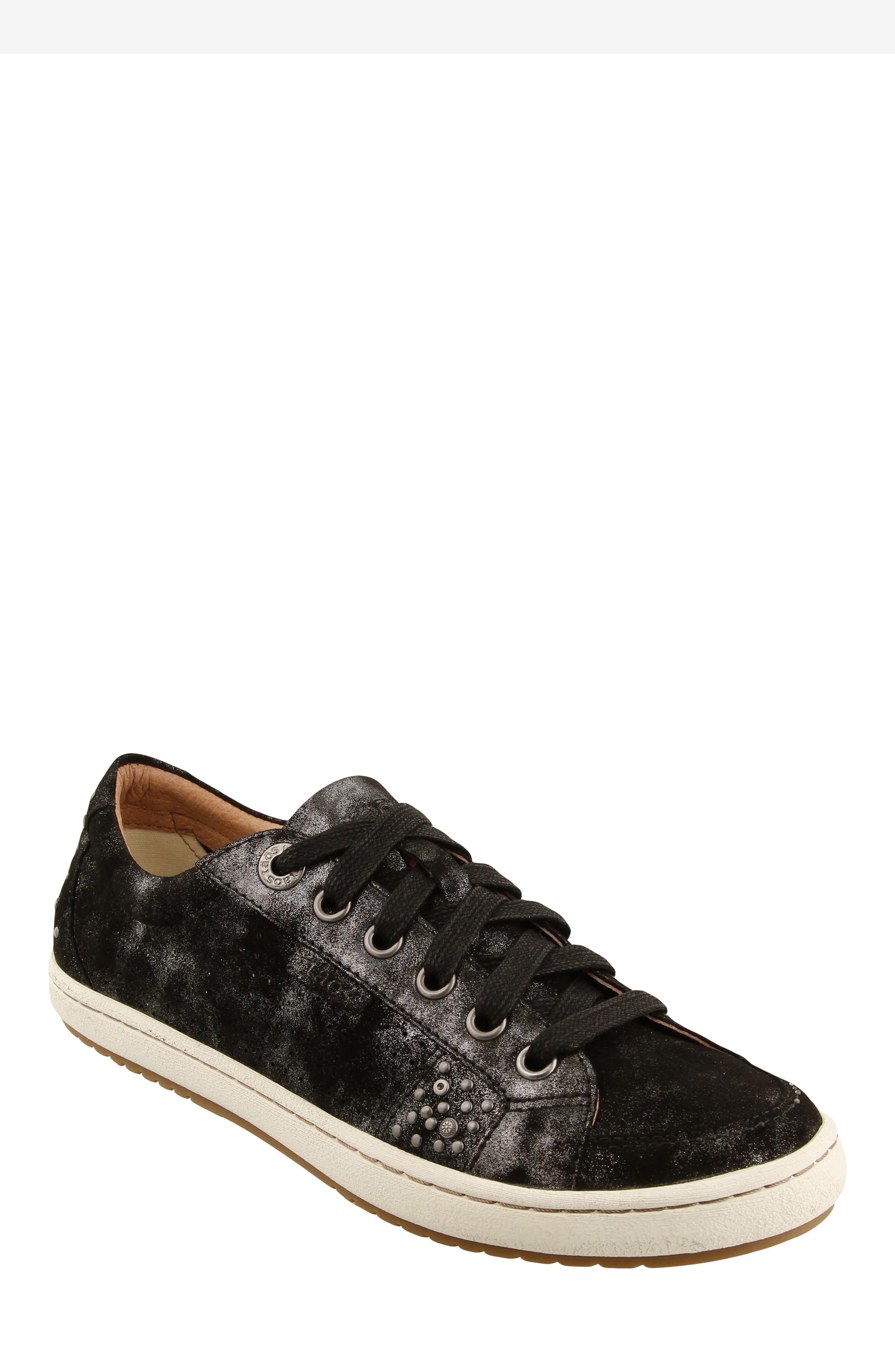 'Freedom' Sneaker,                         Main,                         color, BLACK METALLIC LEATHER