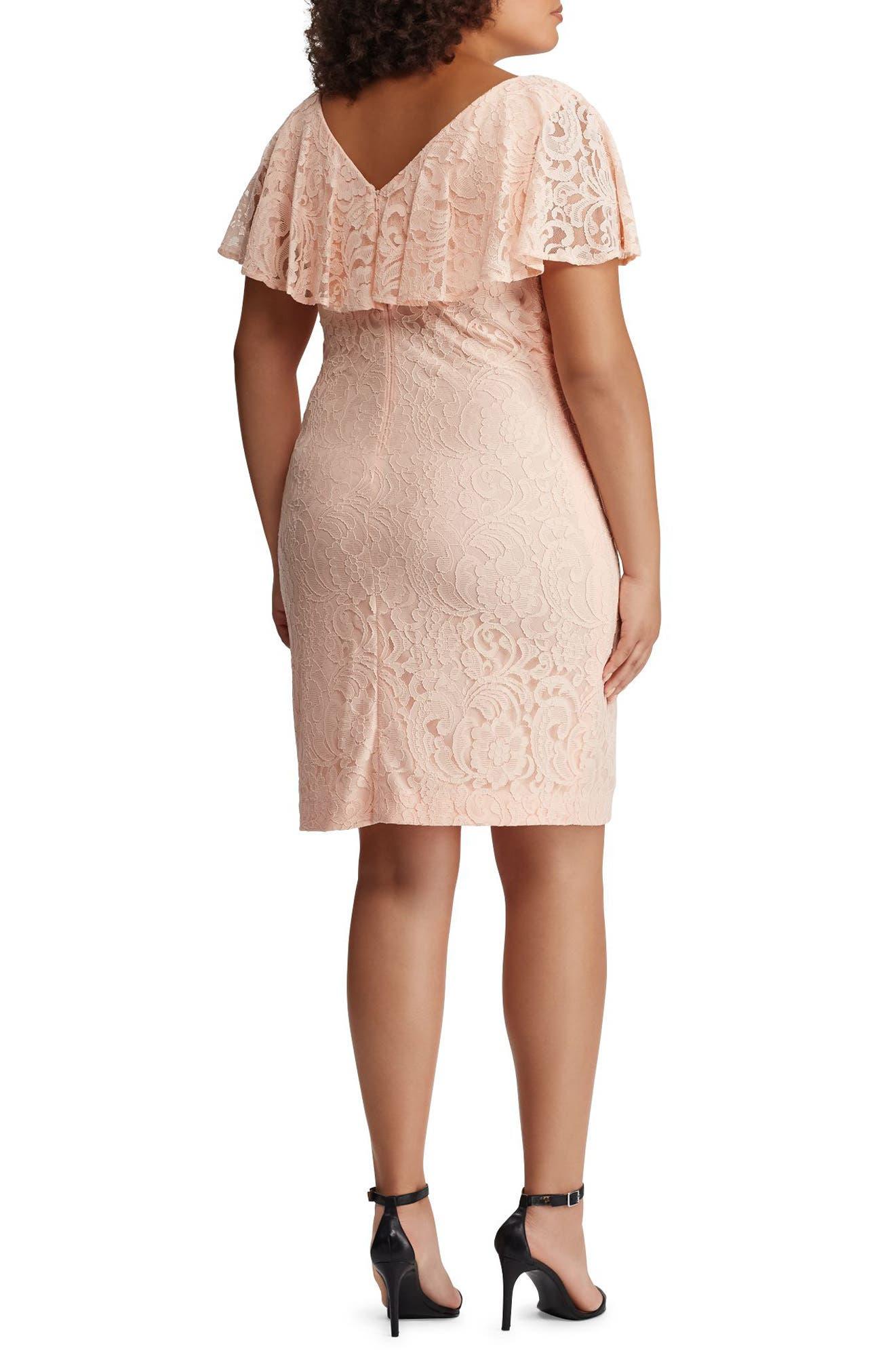 Lace Sheath Dress,                             Alternate thumbnail 2, color,                             650