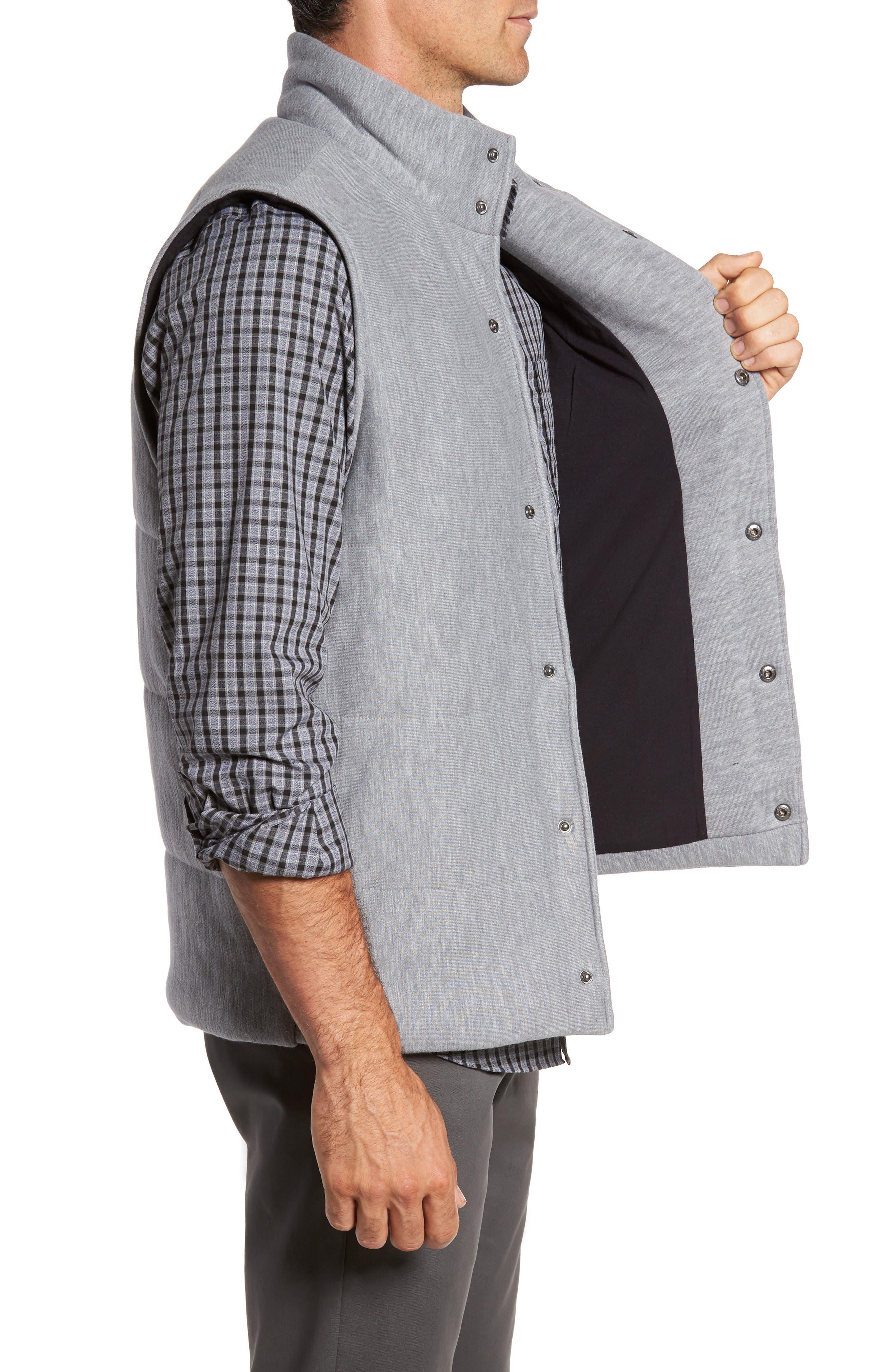 Quilted Fleece Vest,                             Alternate thumbnail 5, color,