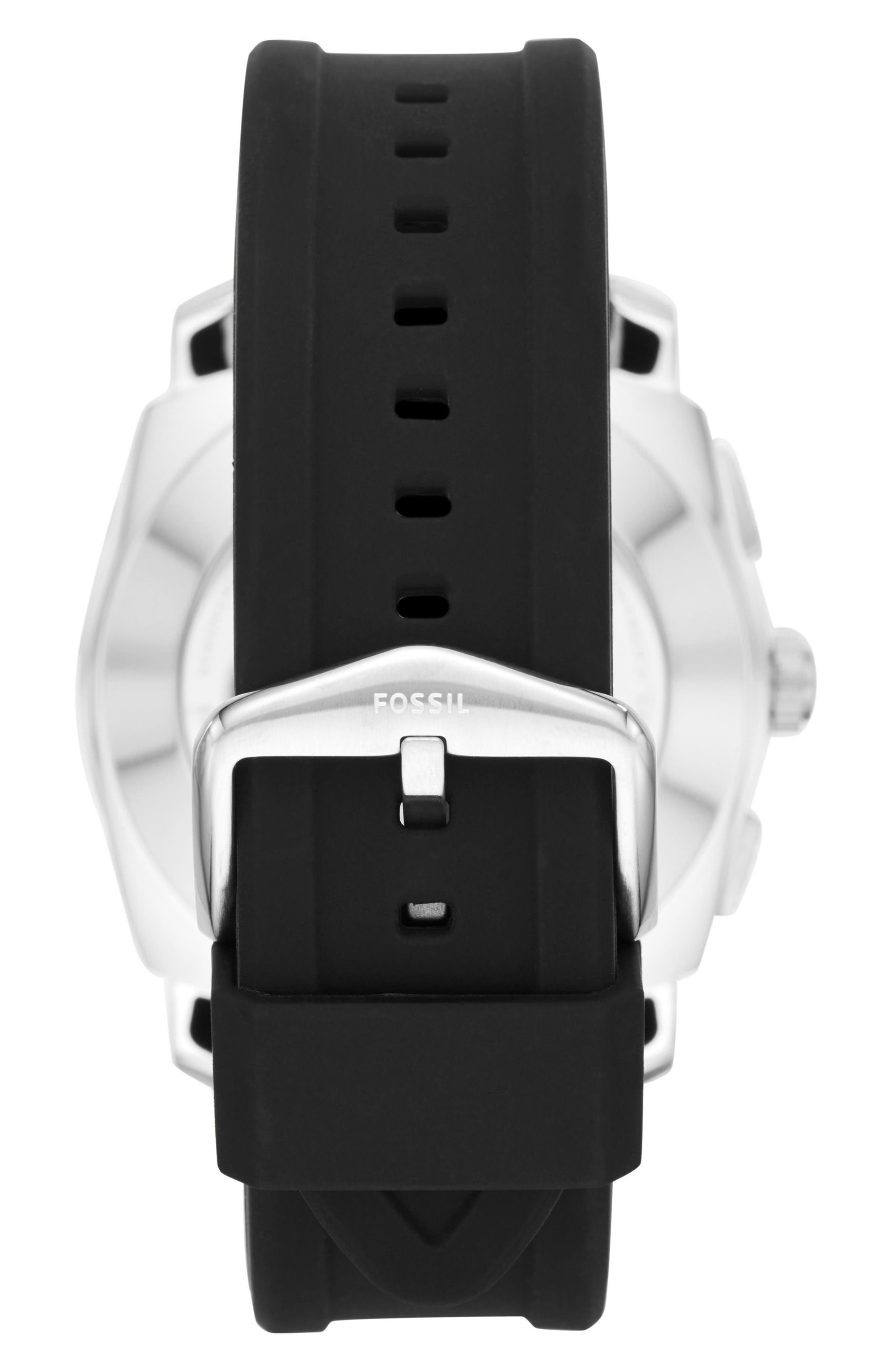 Machine Silicone Strap Hybrid Smart Watch, 45mm,                             Alternate thumbnail 2, color,                             001