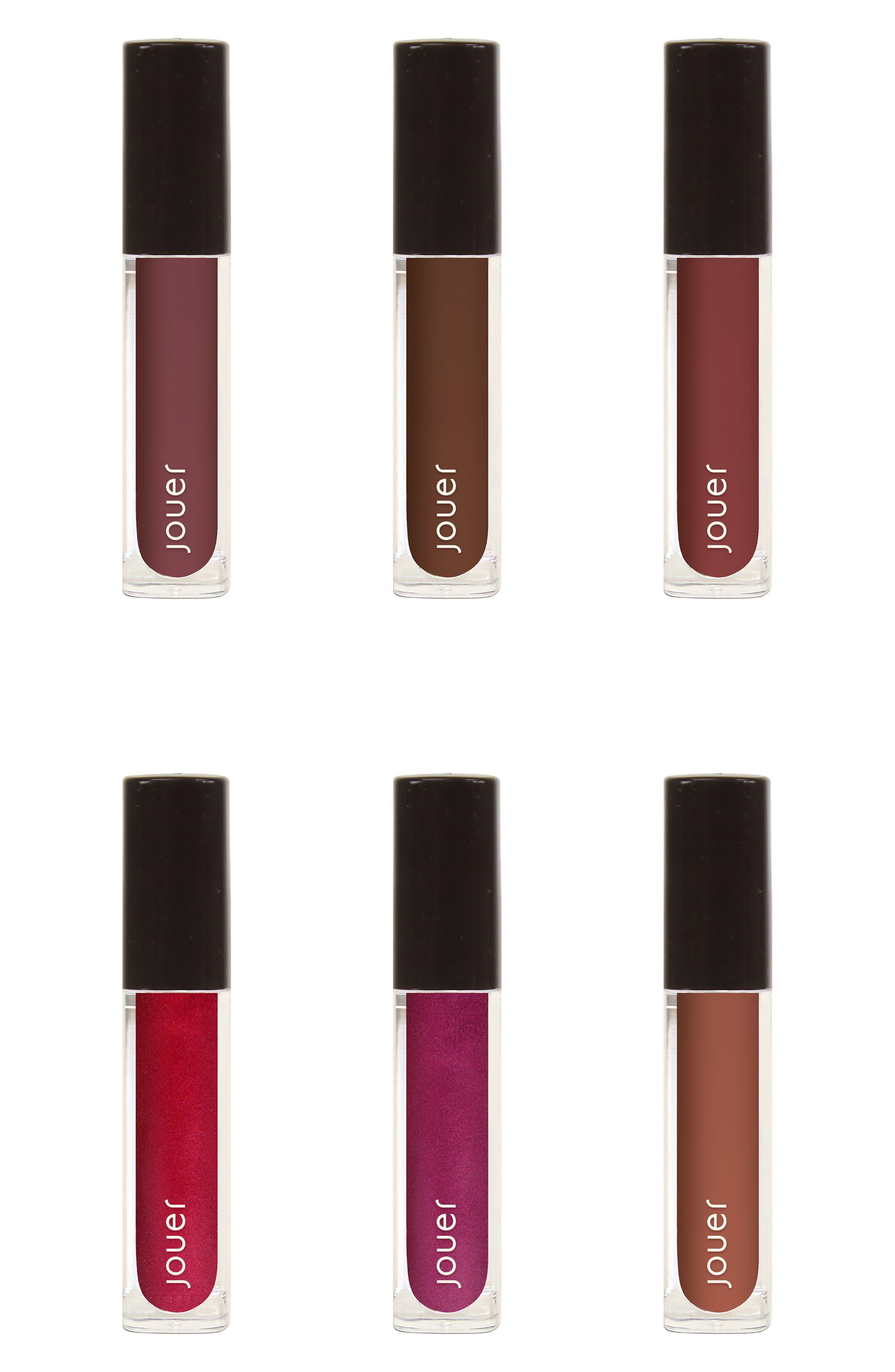 Best of Deeps Mini Long-Wear Lip Crème Liquid Lipstick Collection,                             Main thumbnail 1, color,                             000