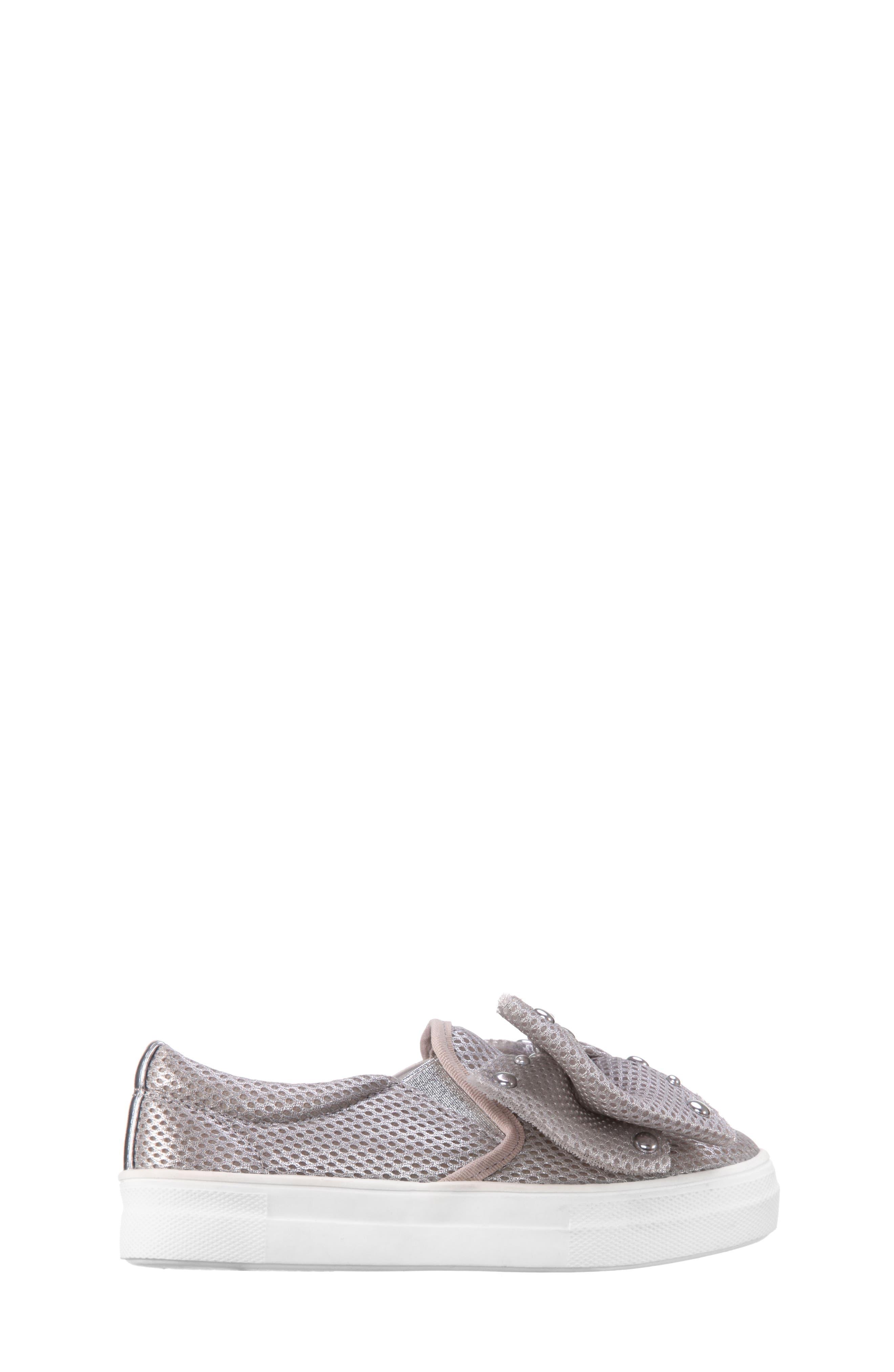Mary Bow Slip-On Sneaker,                             Alternate thumbnail 3, color,                             040