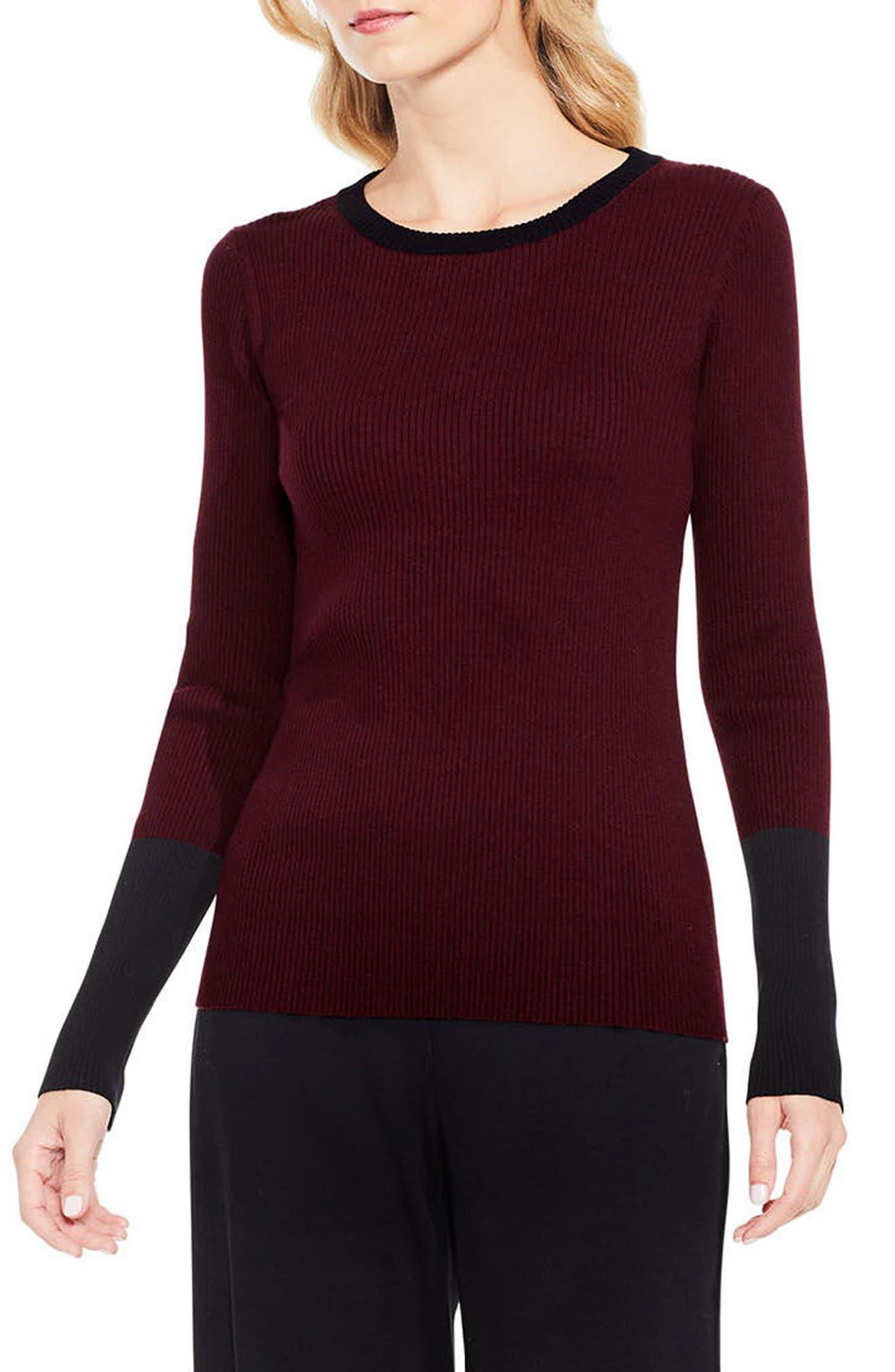 Colorblock Ribbed Sweater,                             Main thumbnail 3, color,
