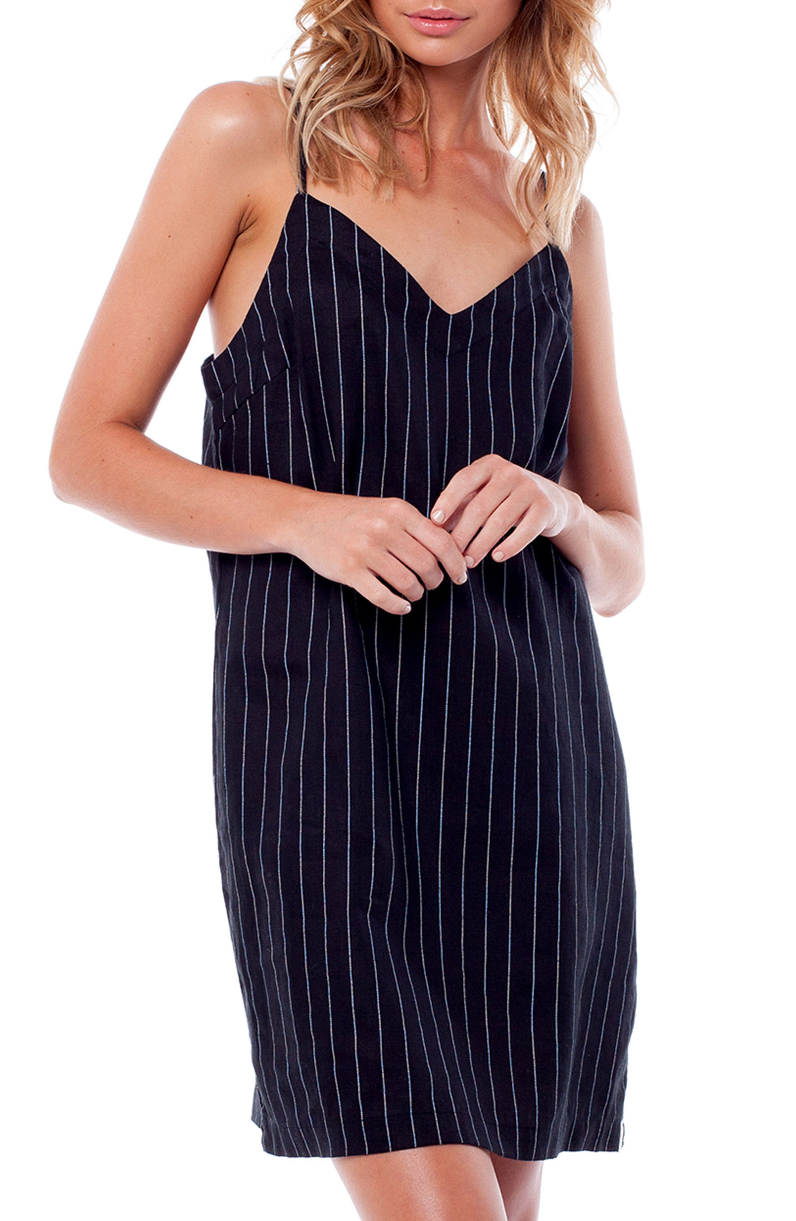 Catalina Cover-Up Dress,                         Main,                         color, BLACK