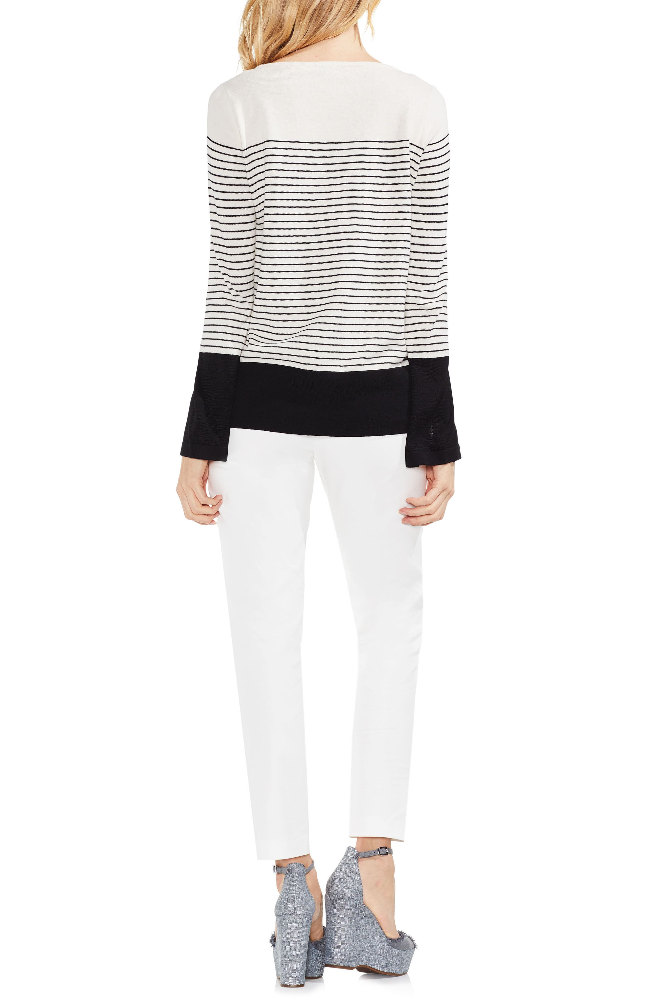 Colorblock Stripe Sweater,                             Alternate thumbnail 3, color,                             108