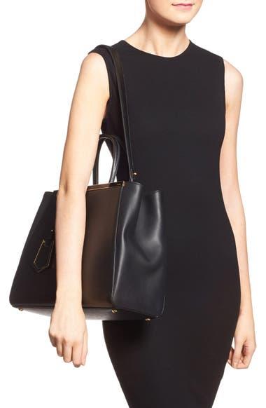 25aa5059c96 Fendi  2Jours Elite  Leather Shopper