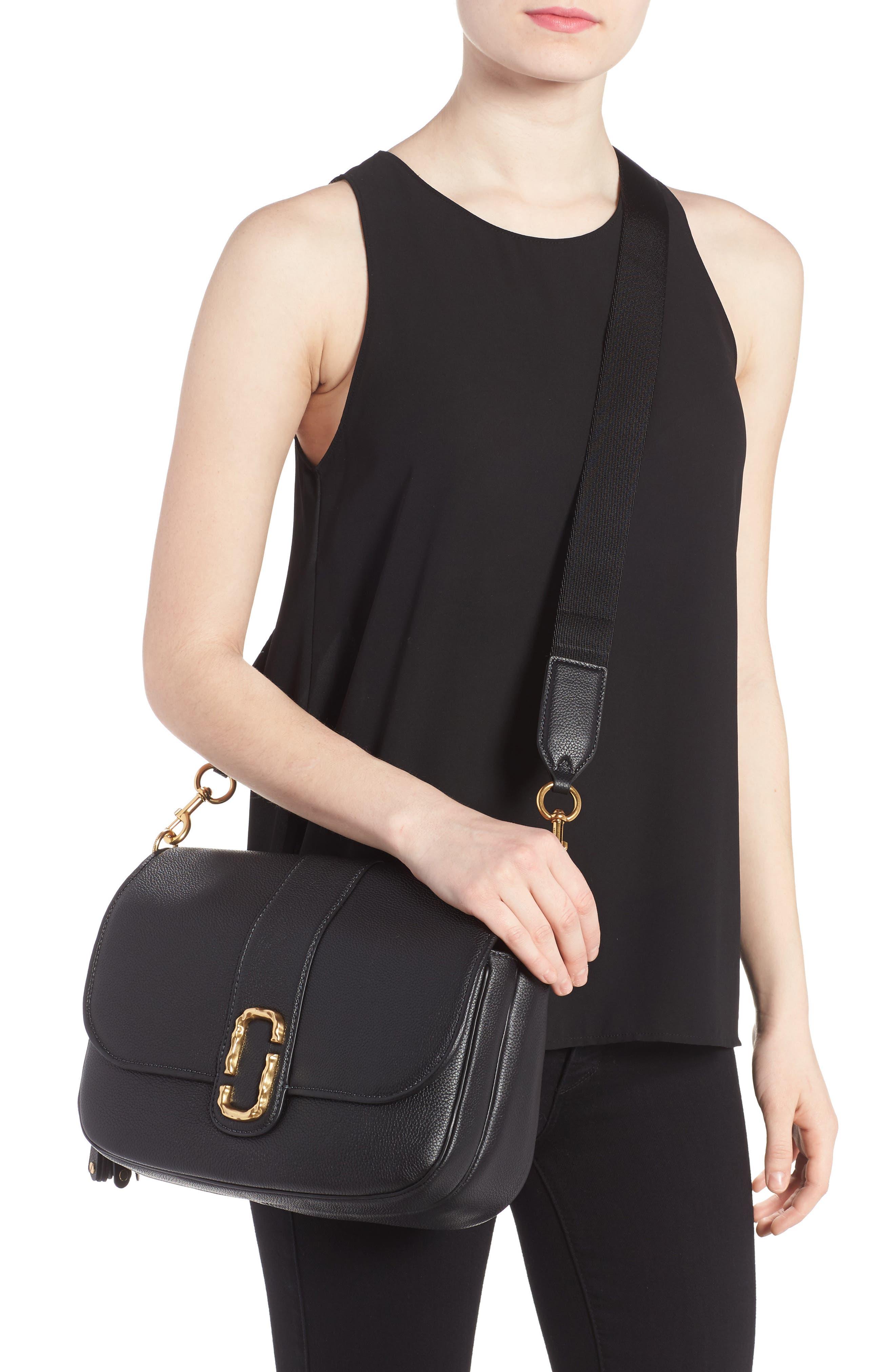 Interlock Leather Crossbody Bag,                             Alternate thumbnail 2, color,                             001