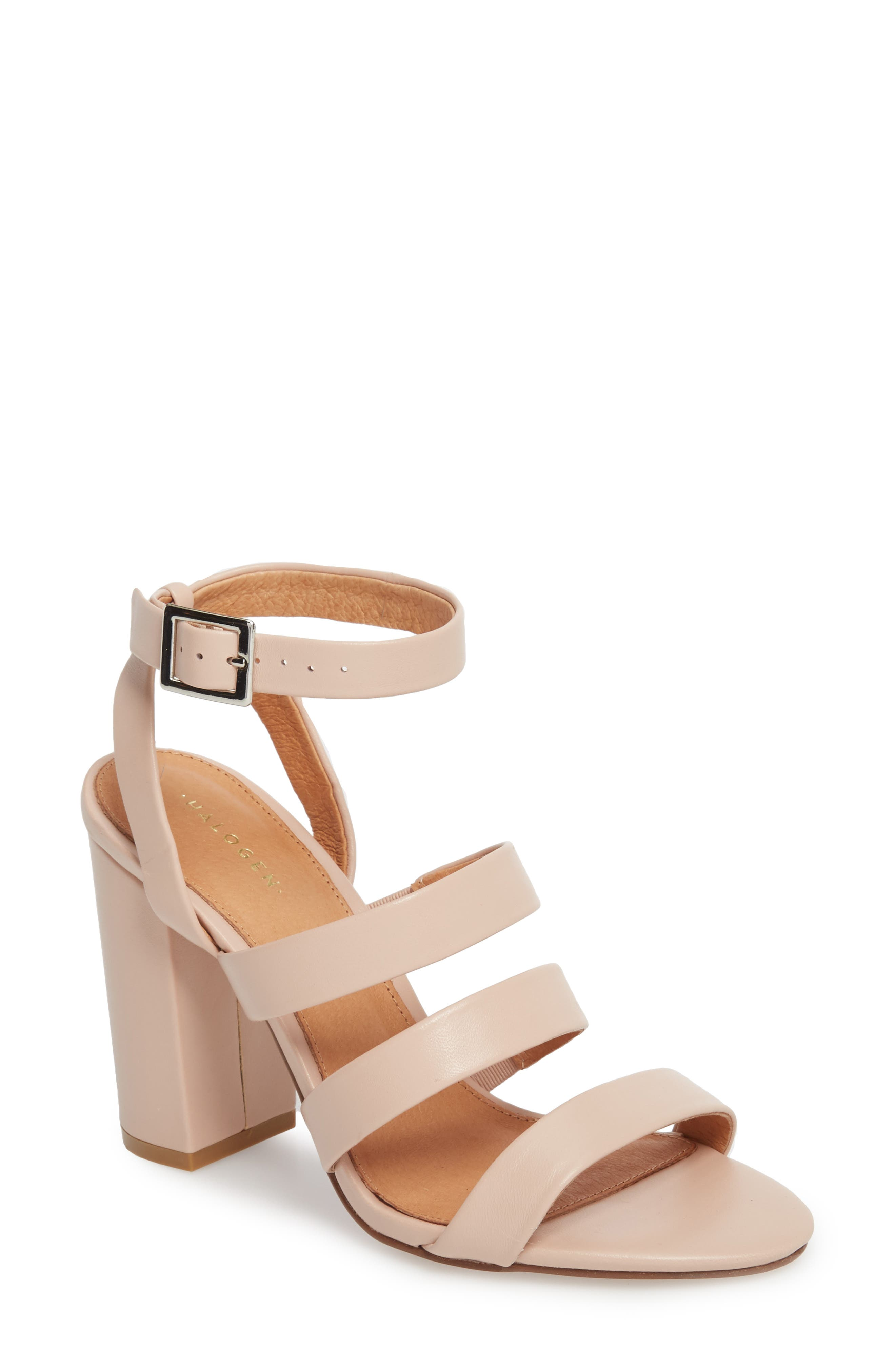 Rocco Sandal,                         Main,                         color, BLUSH LEATHER