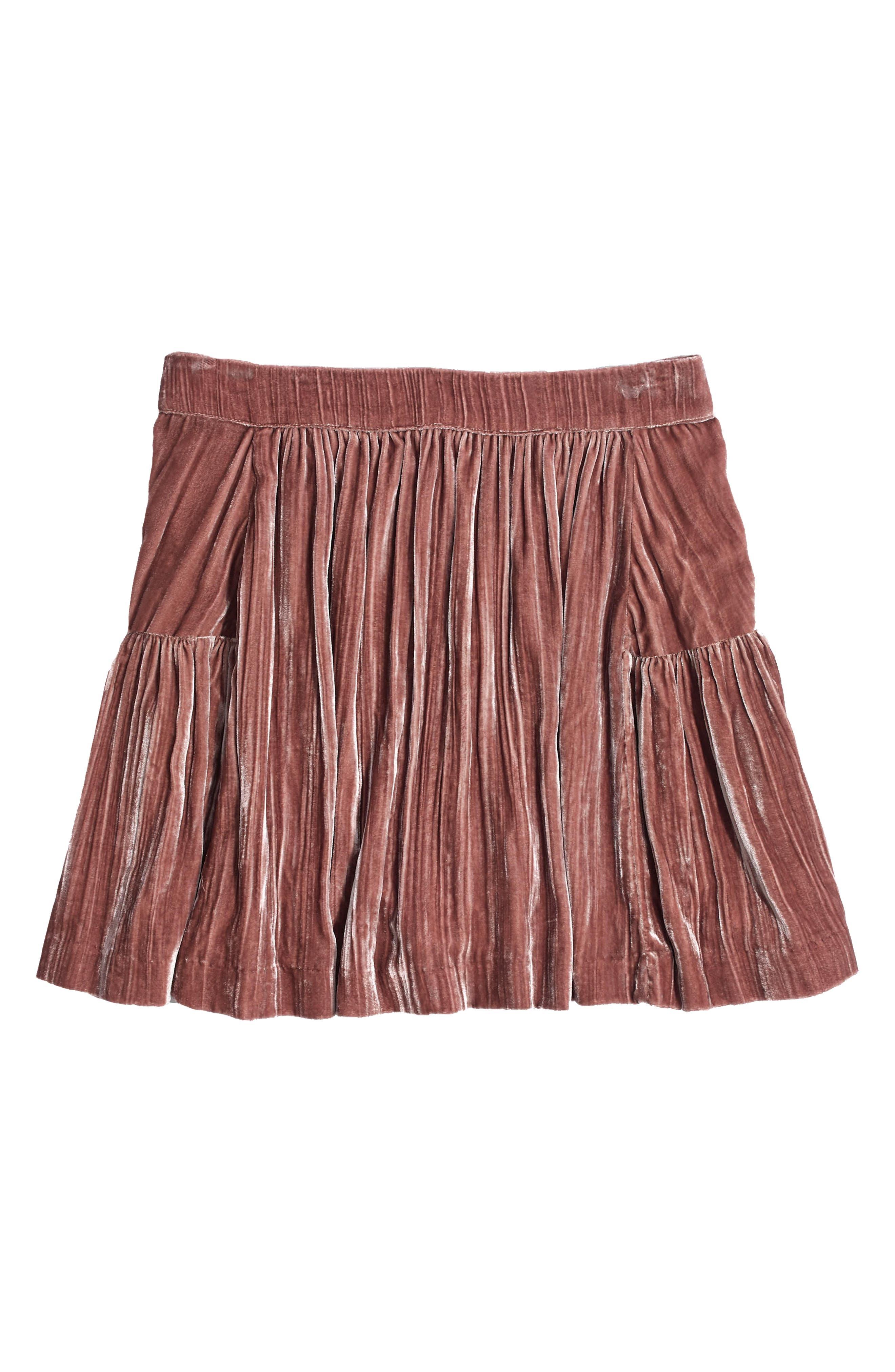 Crushed Velvet Miniskirt,                             Alternate thumbnail 4, color,                             650