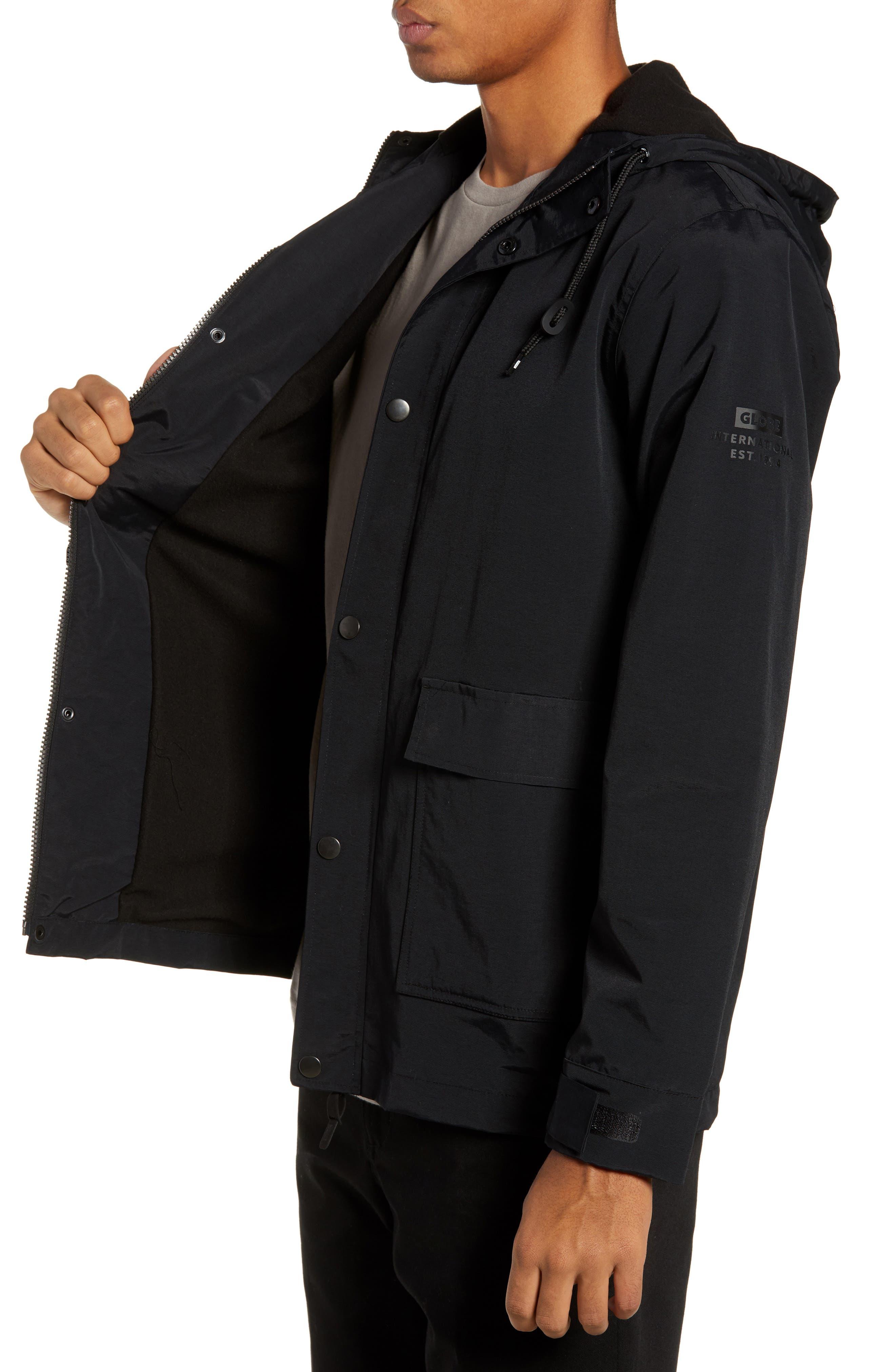 Goodstock Utility Jacket,                             Alternate thumbnail 3, color,                             BLACK