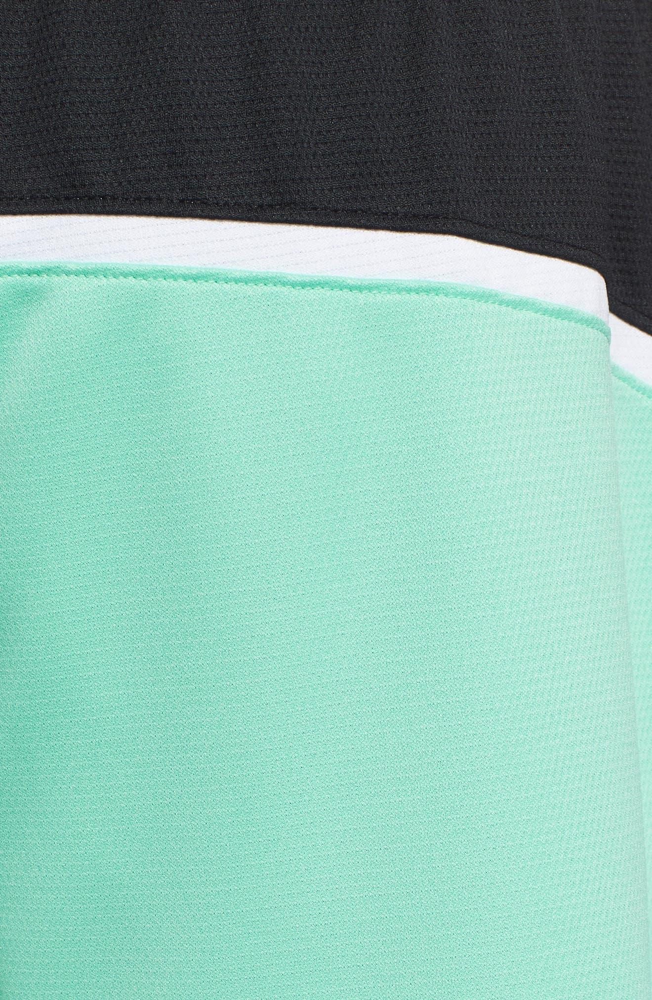 Jordan Dry Flight Shorts,                             Alternate thumbnail 5, color,                             EMERALD RISE/ BLACK/ WHITE