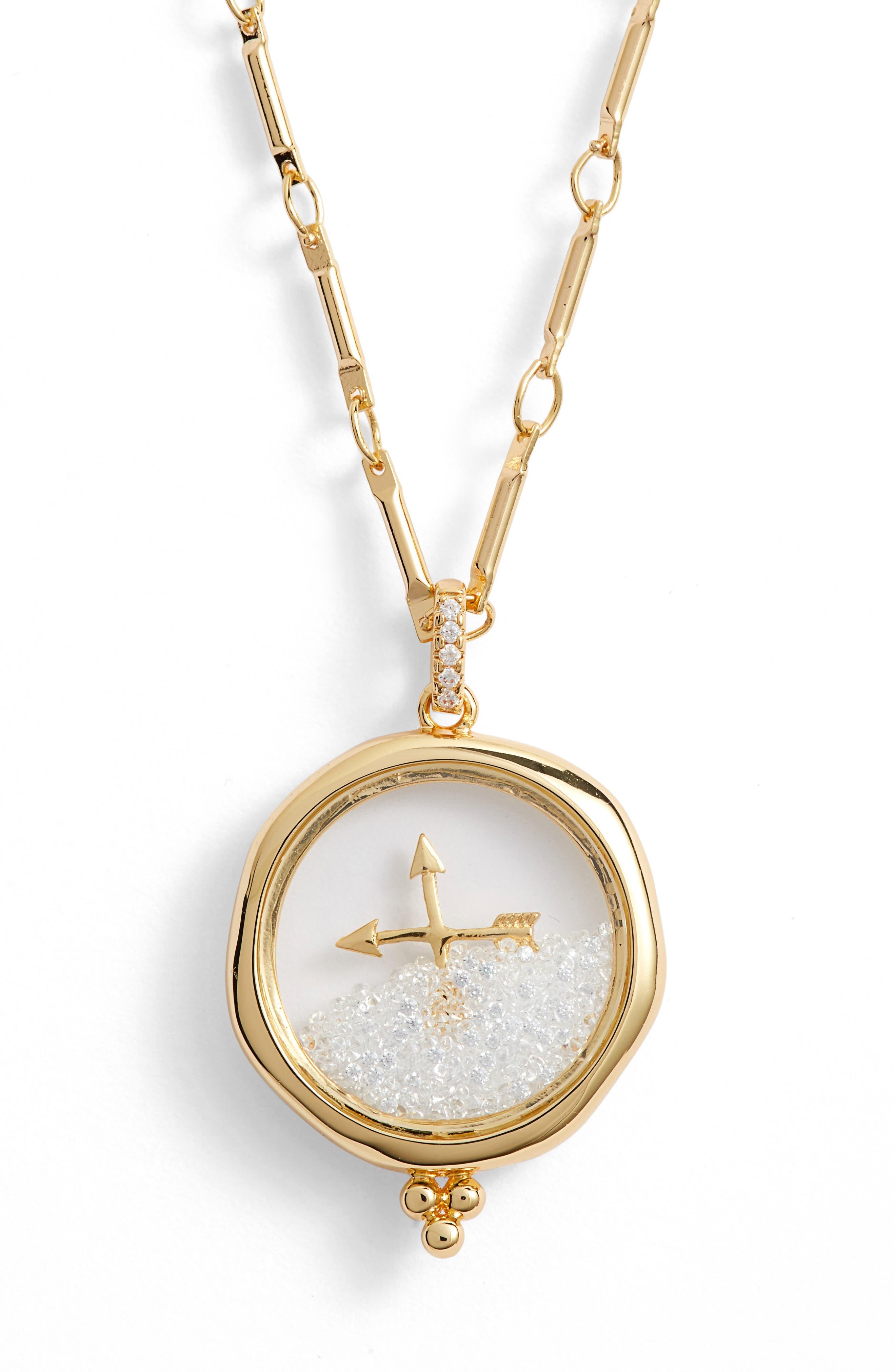 LULU DK X Kristina Schulman Friendship Shaker Pendant Necklace in Gold
