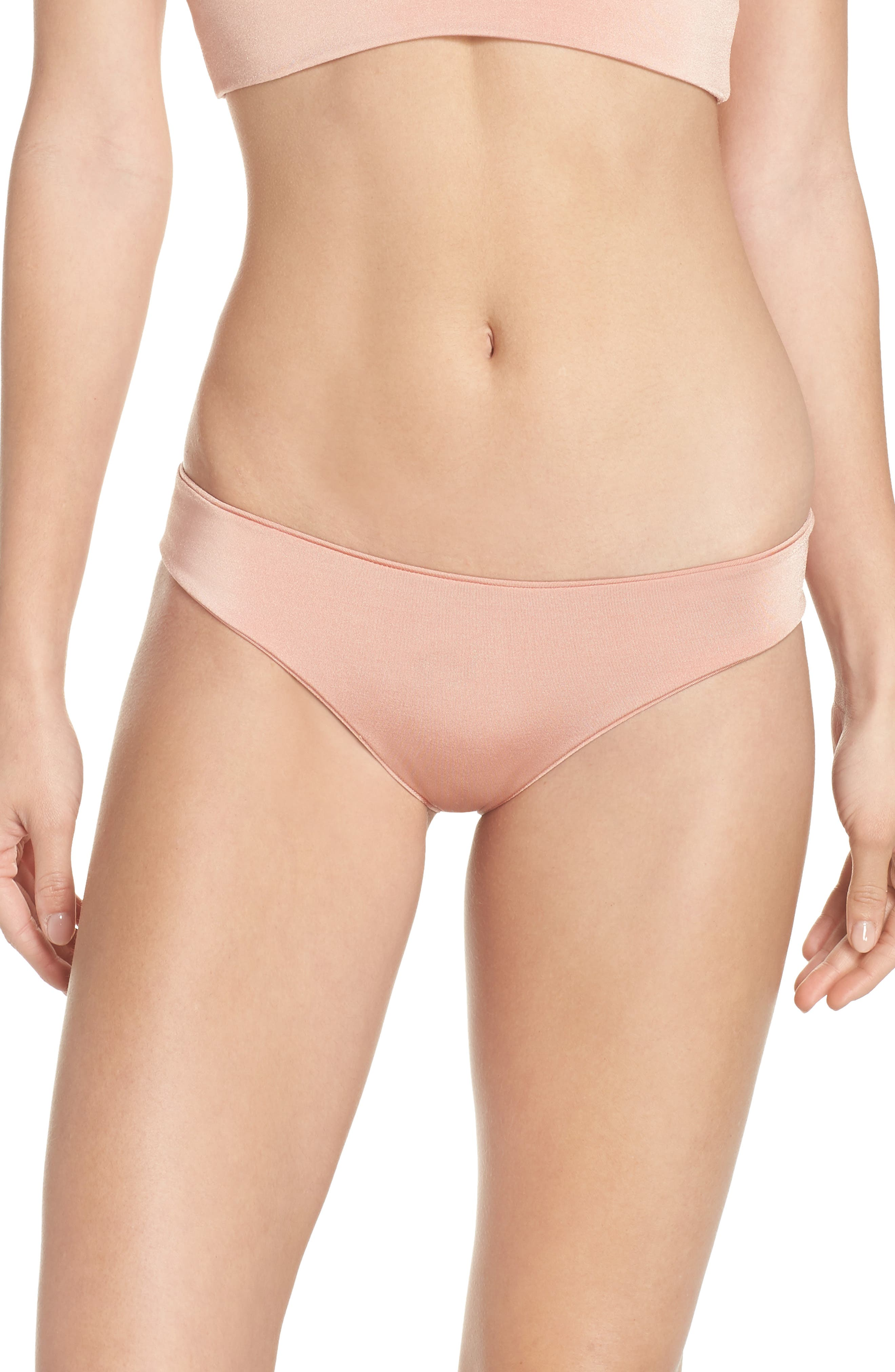 Charlie Bikini Bottoms,                             Main thumbnail 1, color,                             BLUSH & BASHFUL