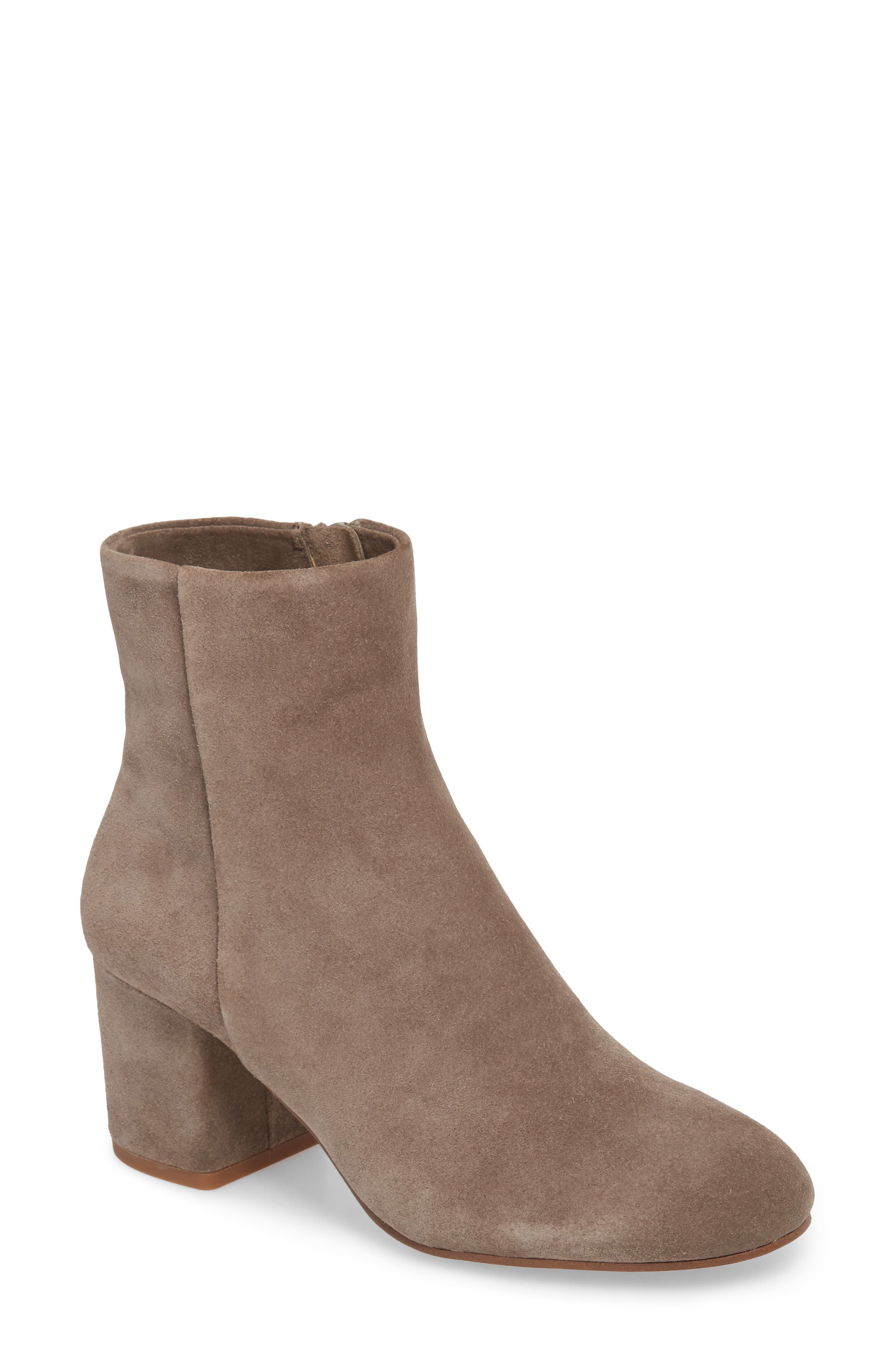 Nixie Bootie,                         Main,                         color, LIGHT CHARCOAL SUEDE