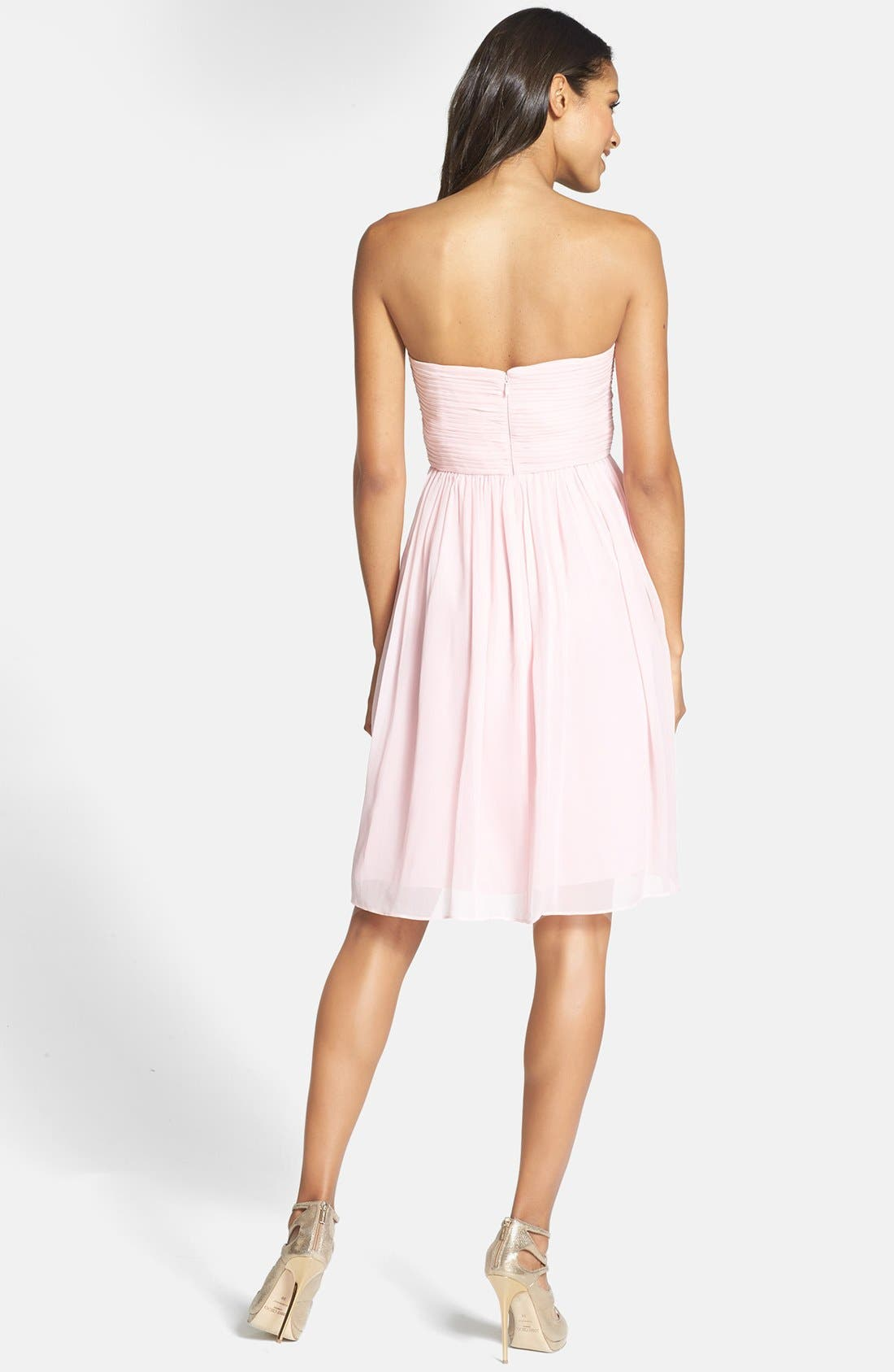 'Morgan' Strapless Silk Chiffon Dress,                             Alternate thumbnail 154, color,