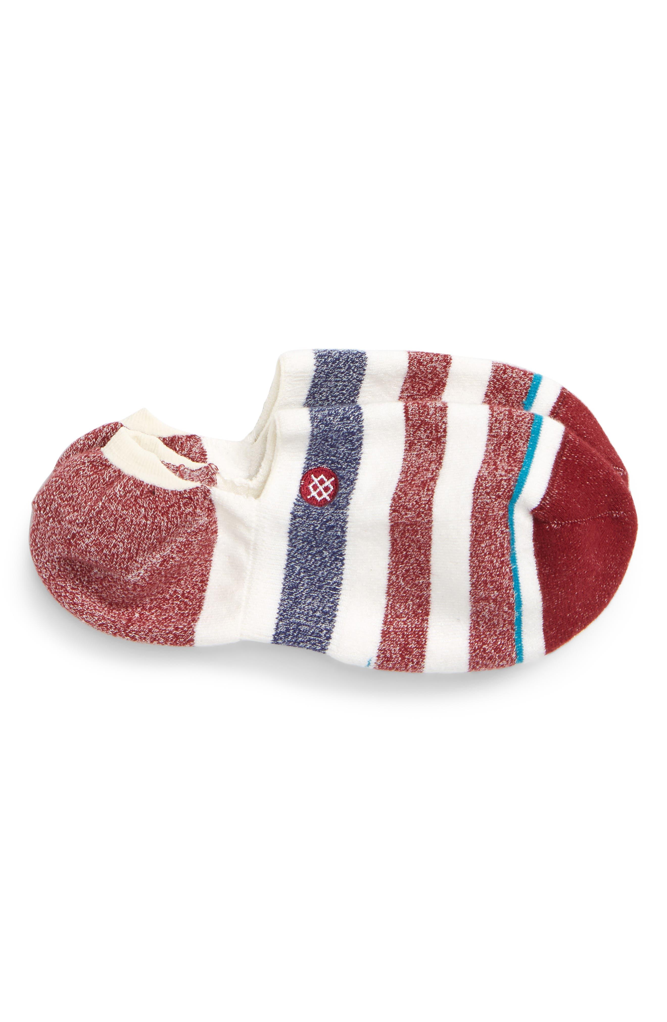 Robinsen Low Socks,                             Main thumbnail 1, color,                             RED