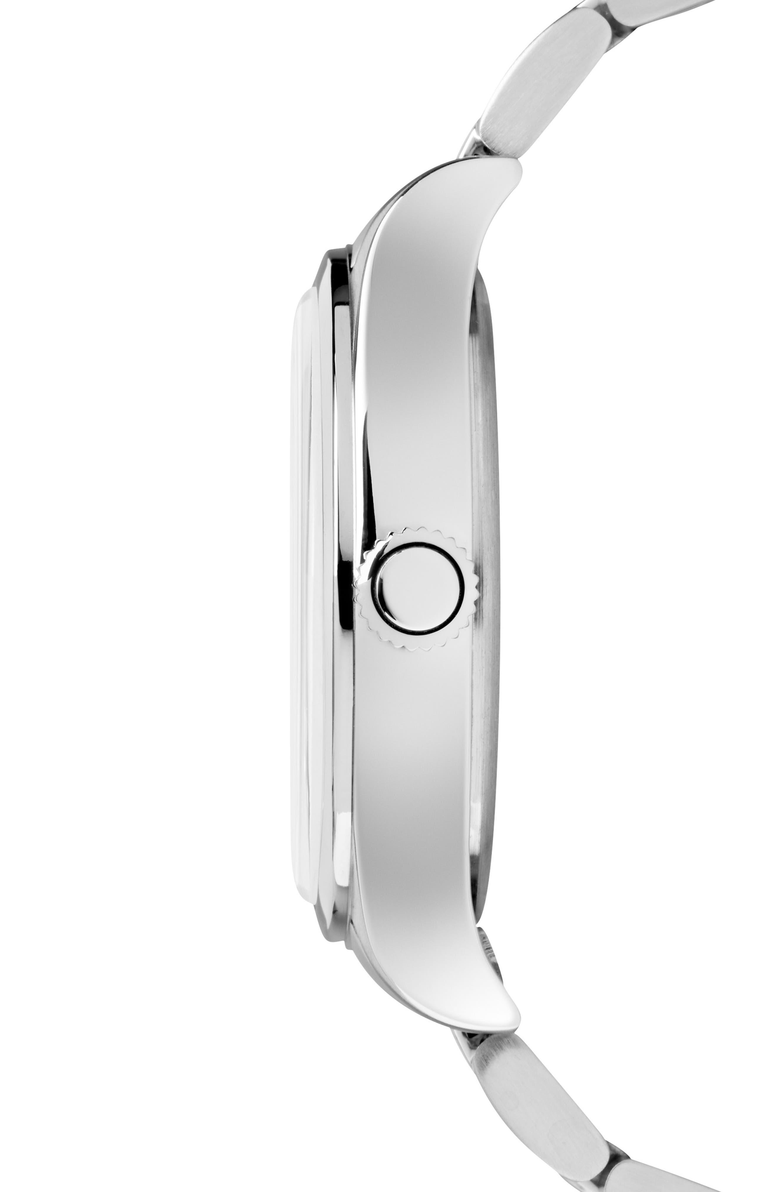 Waterbury Bracelet Watch, 40mm,                             Alternate thumbnail 2, color,                             SILVER/ BLACK/ SILVER
