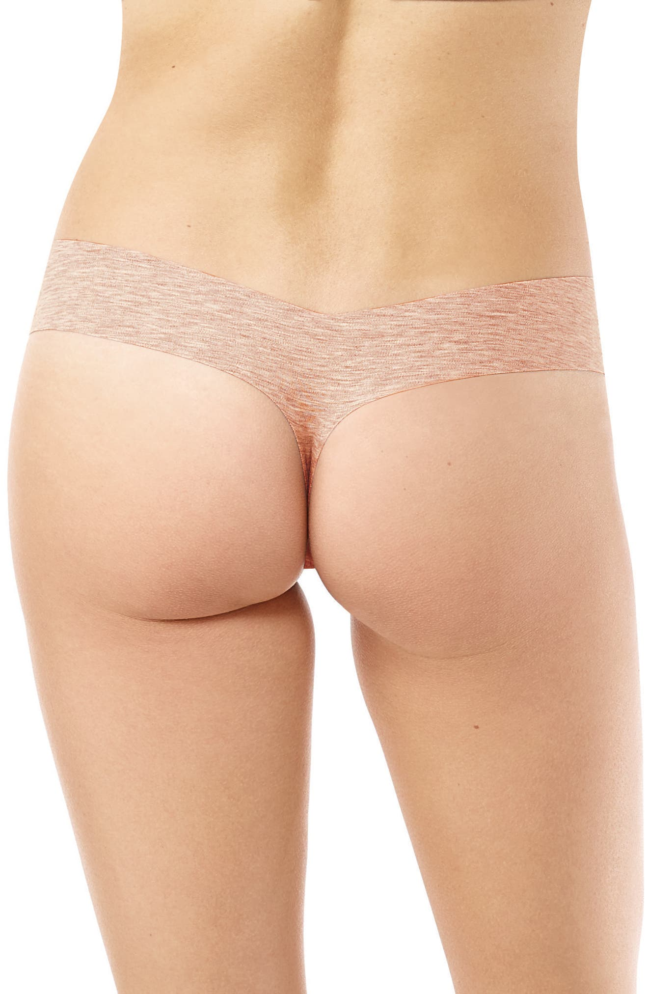 Heathered Cotton Blend Thong,                             Alternate thumbnail 5, color,