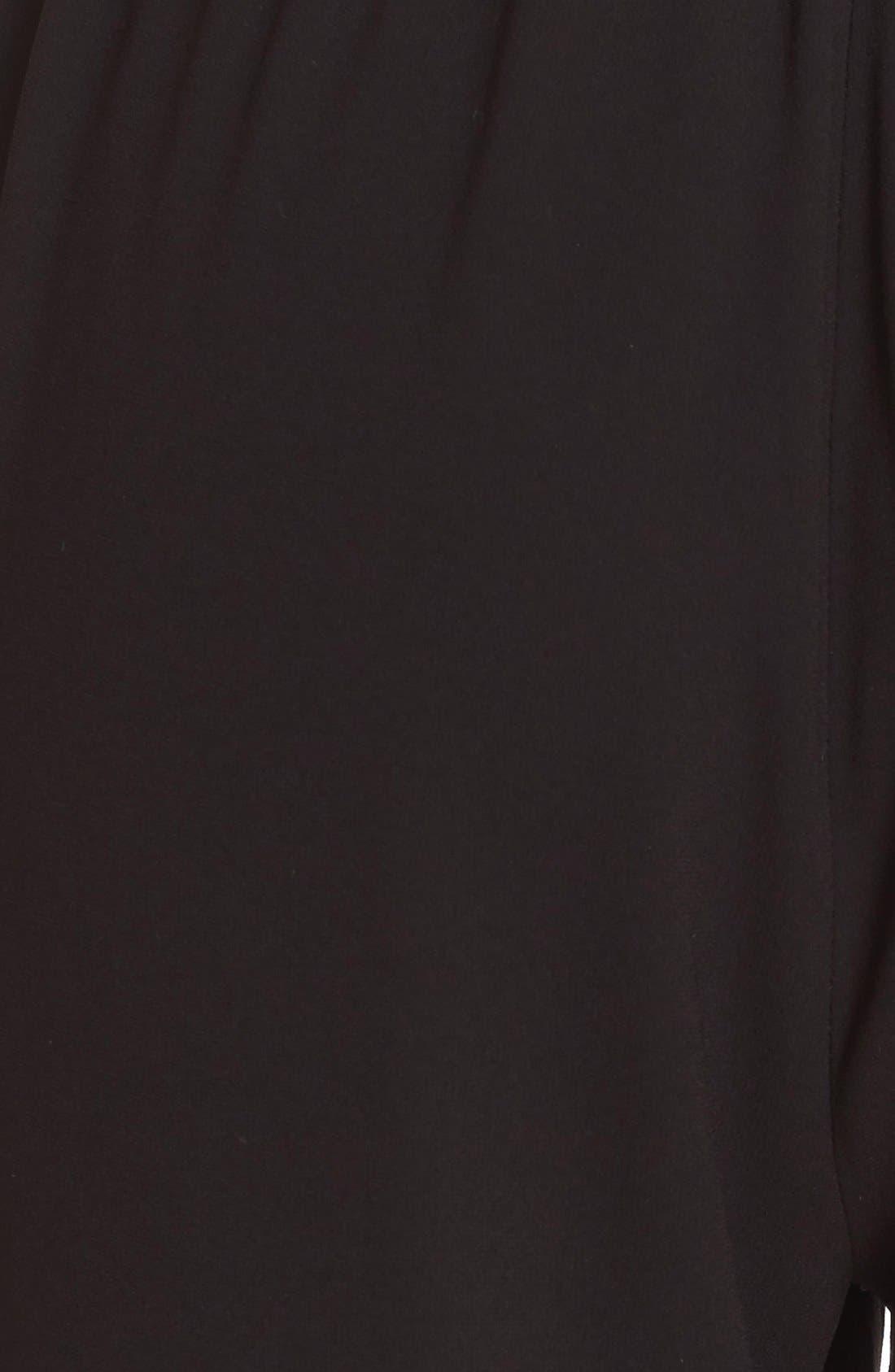 St. John Sport Collection Satin Back Crepe Pants,                             Alternate thumbnail 3, color,                             001