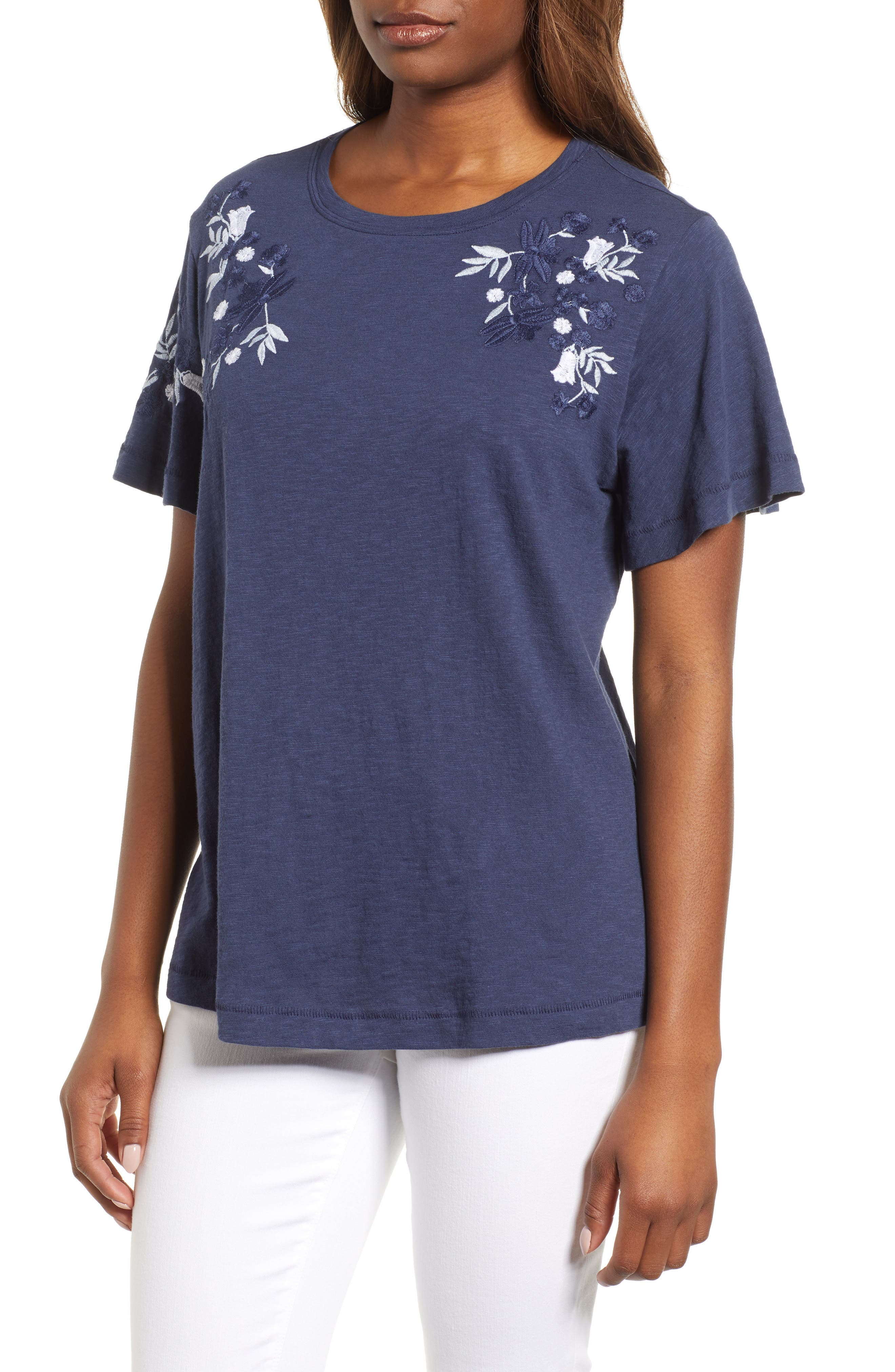 Embroidered Tee,                             Main thumbnail 2, color,
