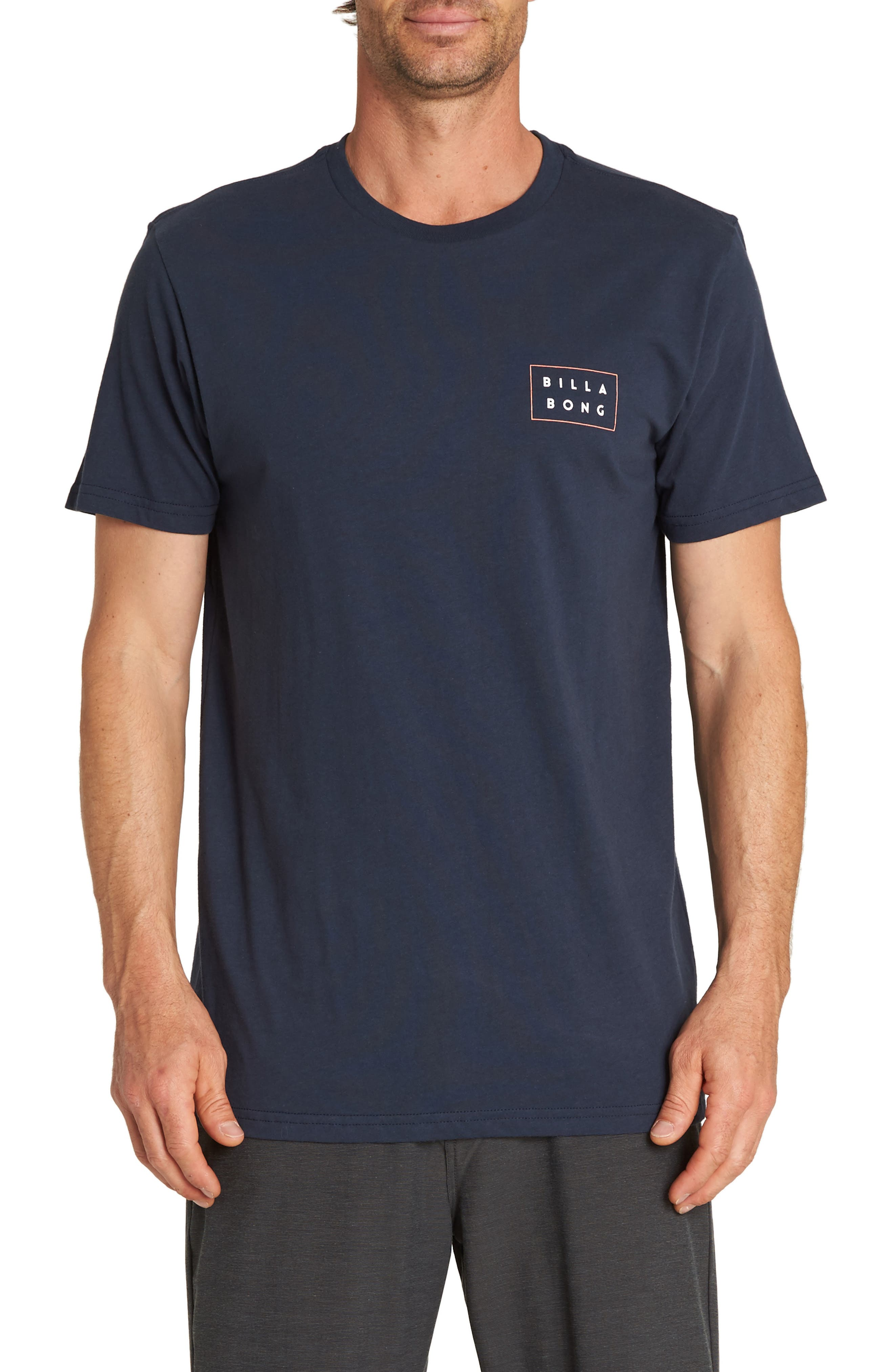 Die Cut Fill T-Shirt,                         Main,                         color, NAVY