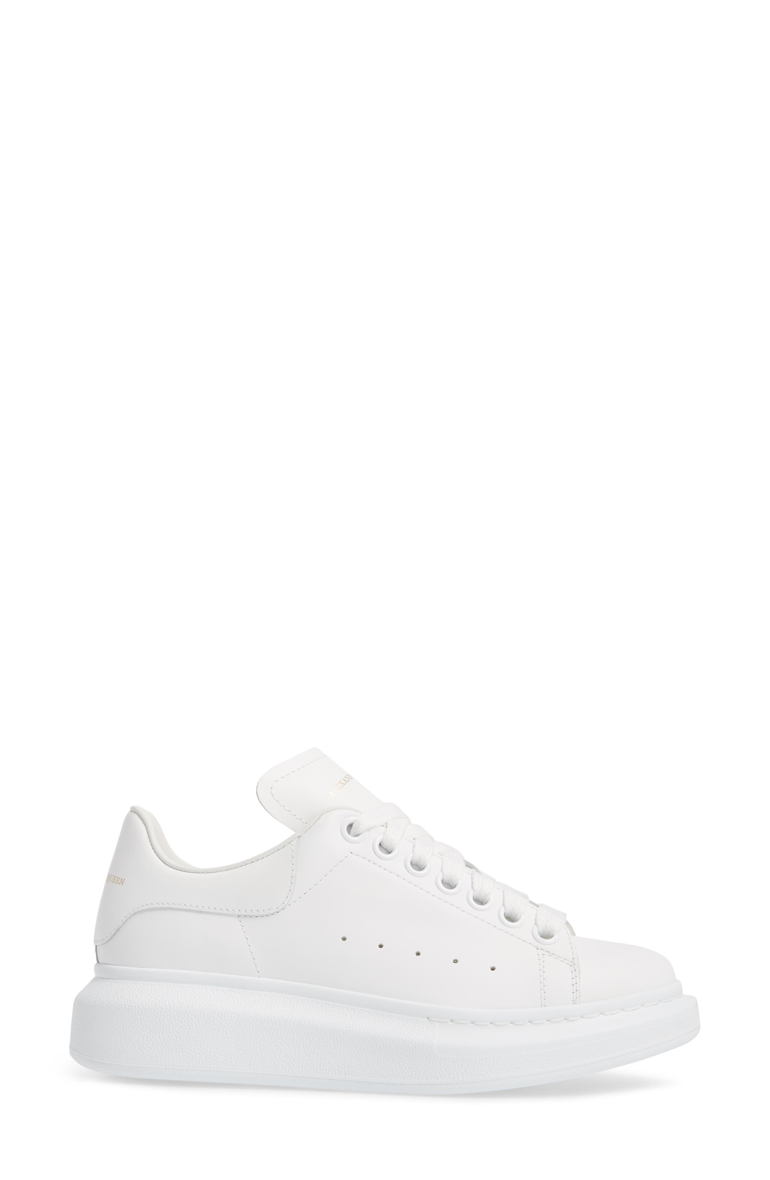 ALEXANDER MCQUEEN,                             Sneaker,                             Alternate thumbnail 3, color,                             WHITE/ WHITE