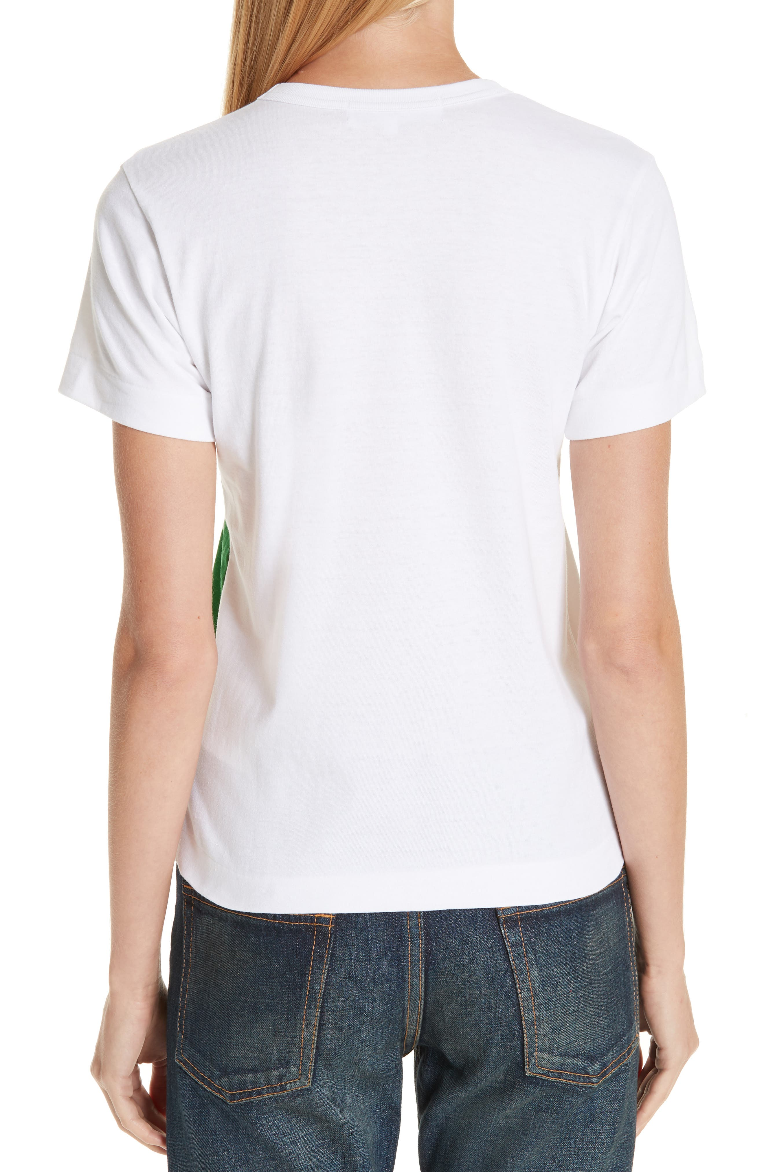 Half Heart Graphic Tee,                             Alternate thumbnail 2, color,                             WHITE