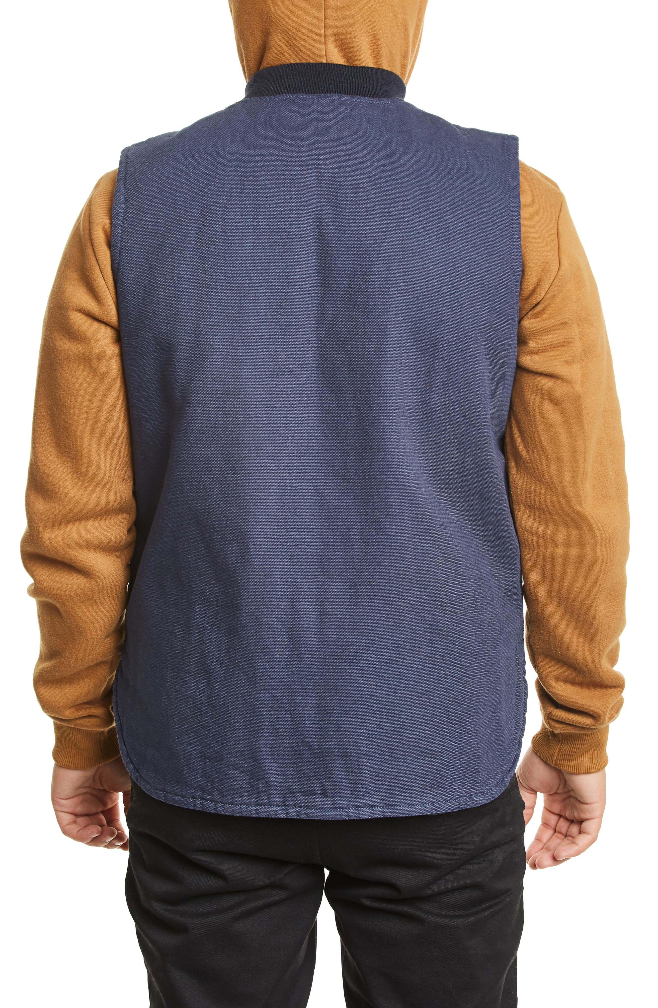 Abraham Water Resistant Vest,                             Alternate thumbnail 2, color,                             WASHED NAVY