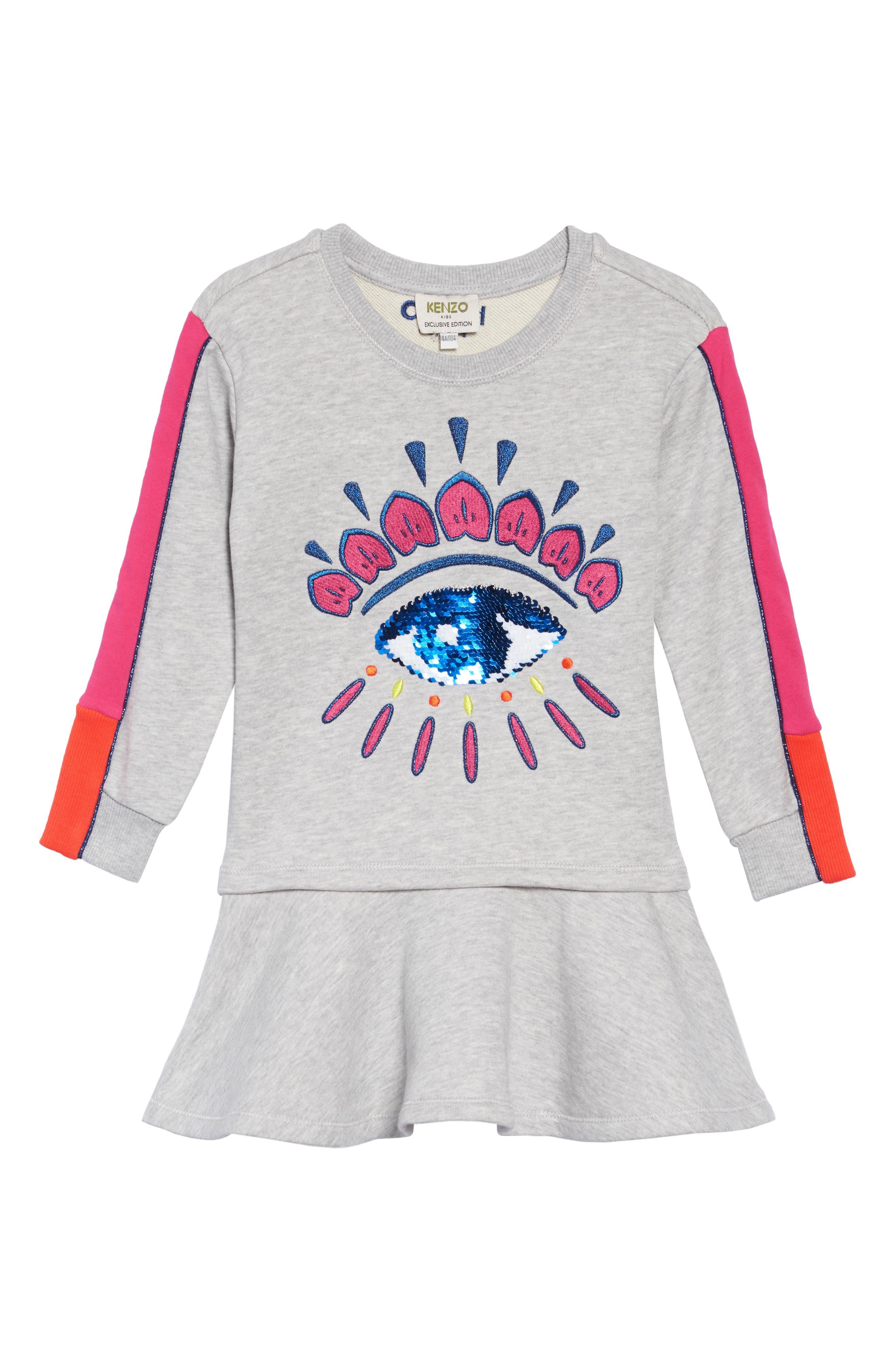Girl s Kenzo Eye Fleece Dress c6ff6c23b