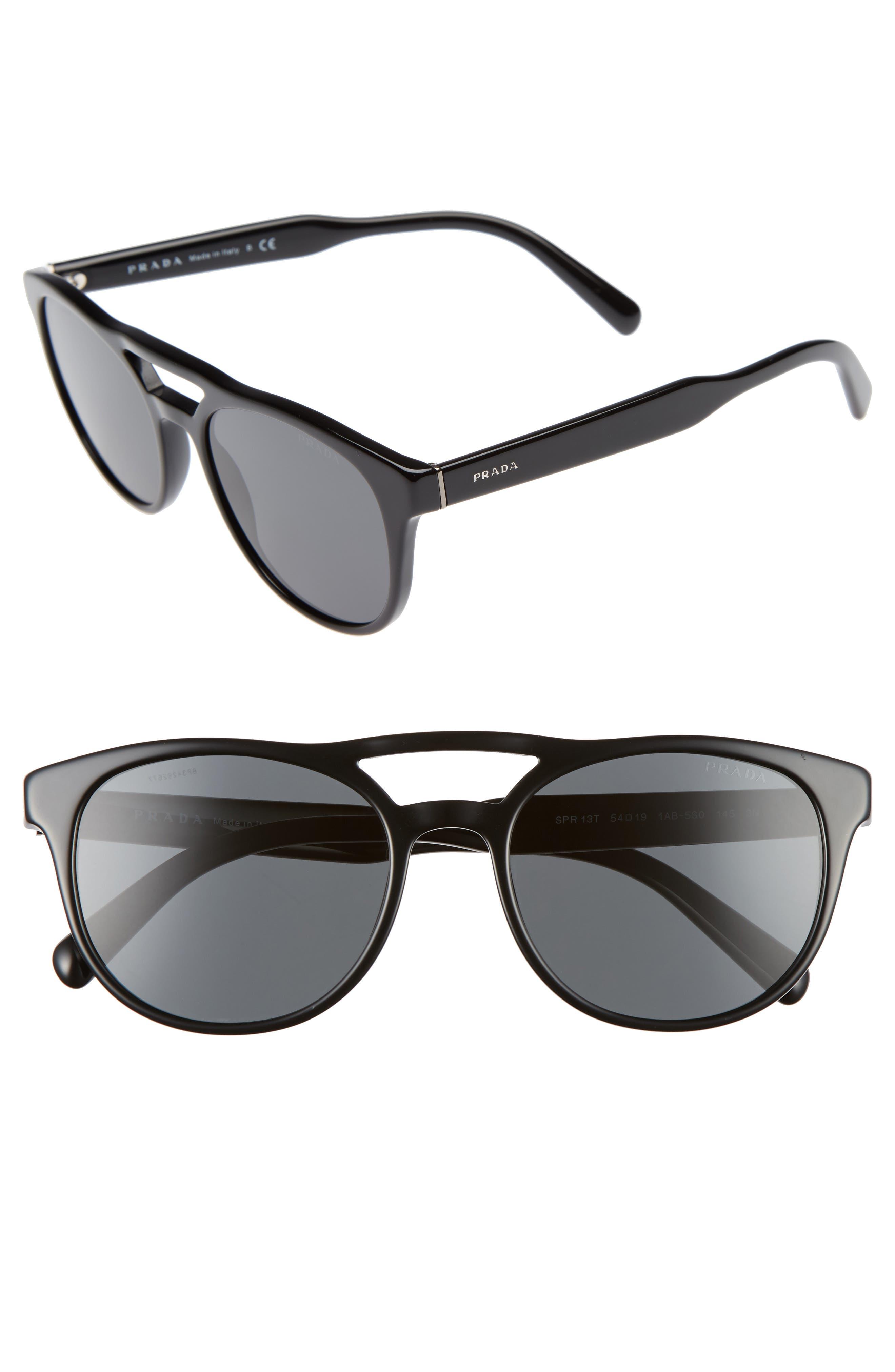 54mm Square Sunglasses,                             Main thumbnail 1, color,                             001