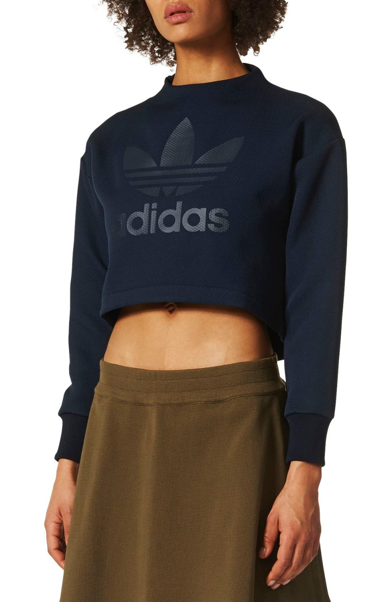 Crop Sweatshirt,                             Main thumbnail 1, color,                             408