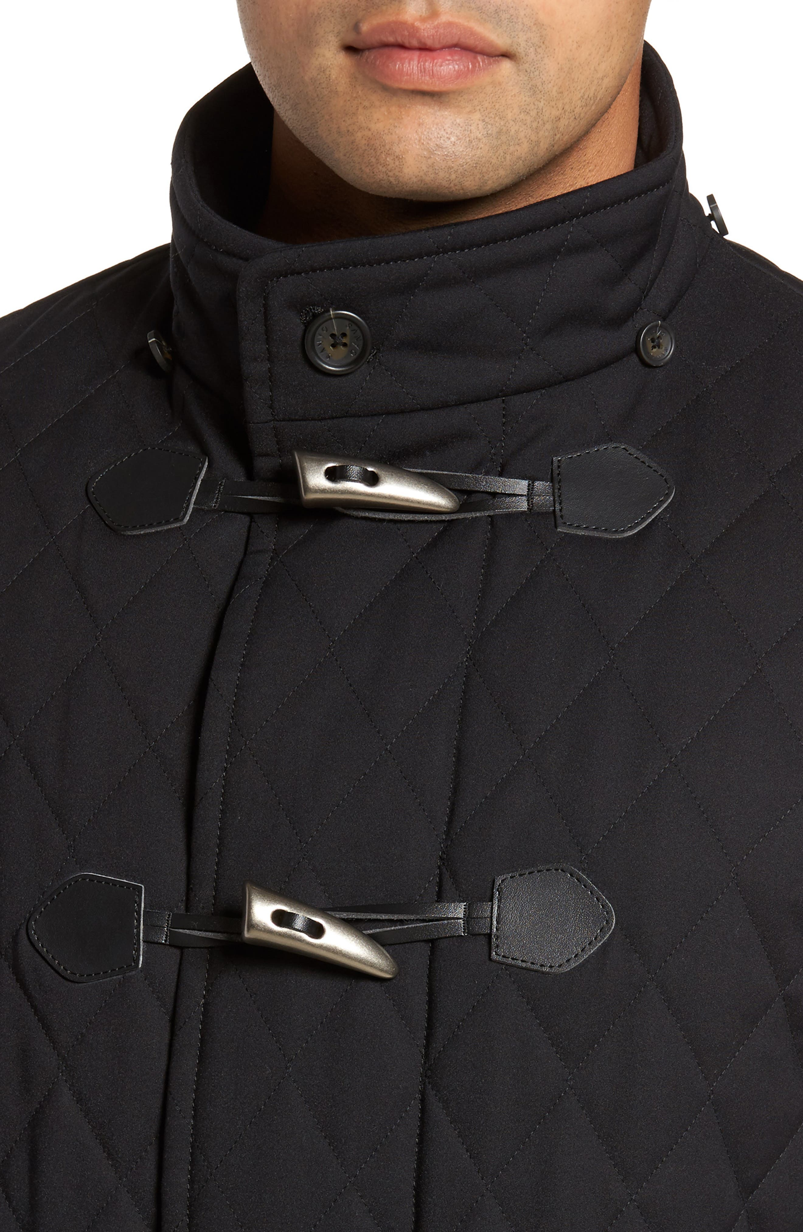 Francisco Quilted Duffle Coat,                             Alternate thumbnail 4, color,                             009