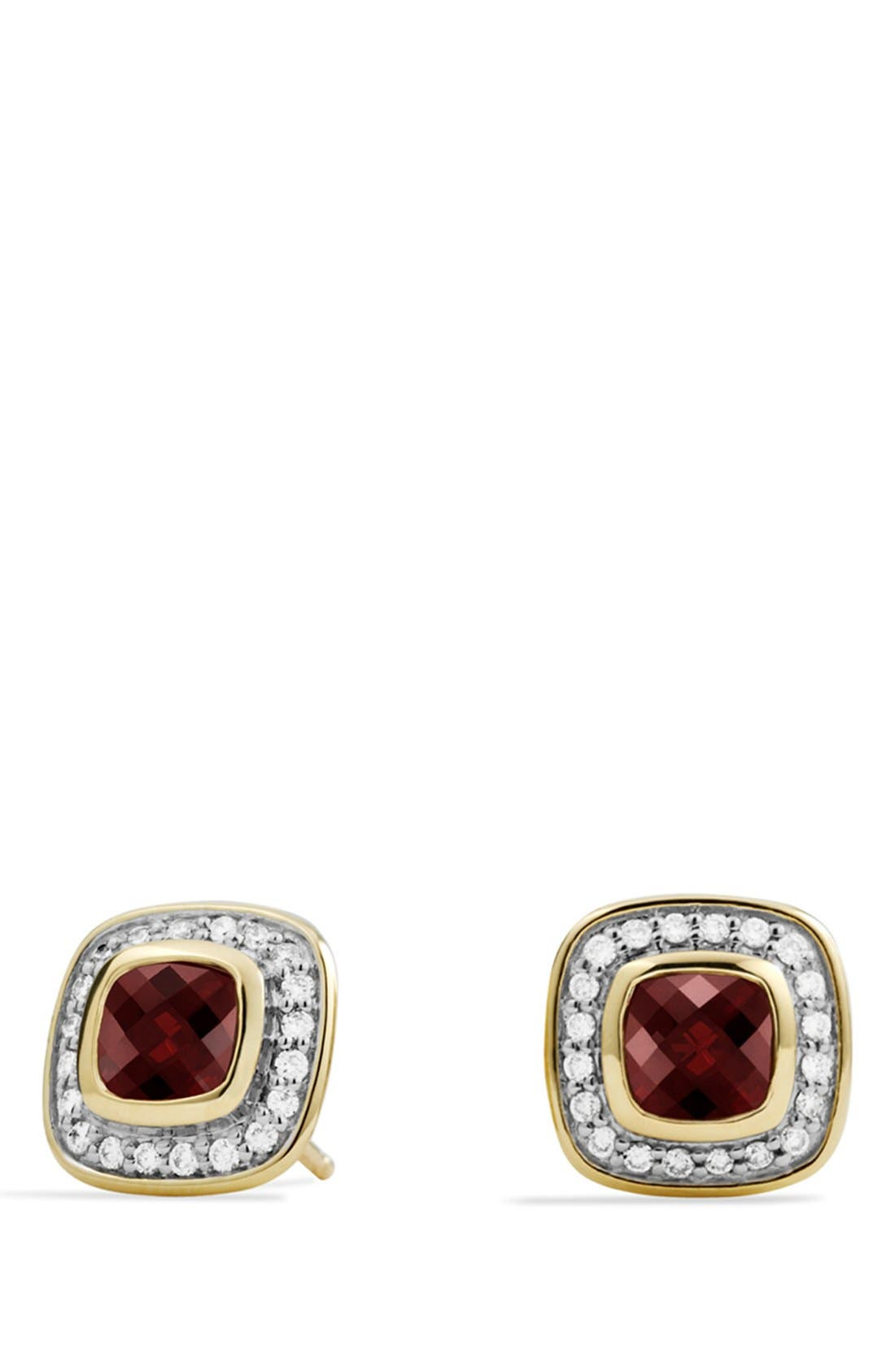 'Petite Albion' Earrings with Garnet and Diamonds, Main, color, 601