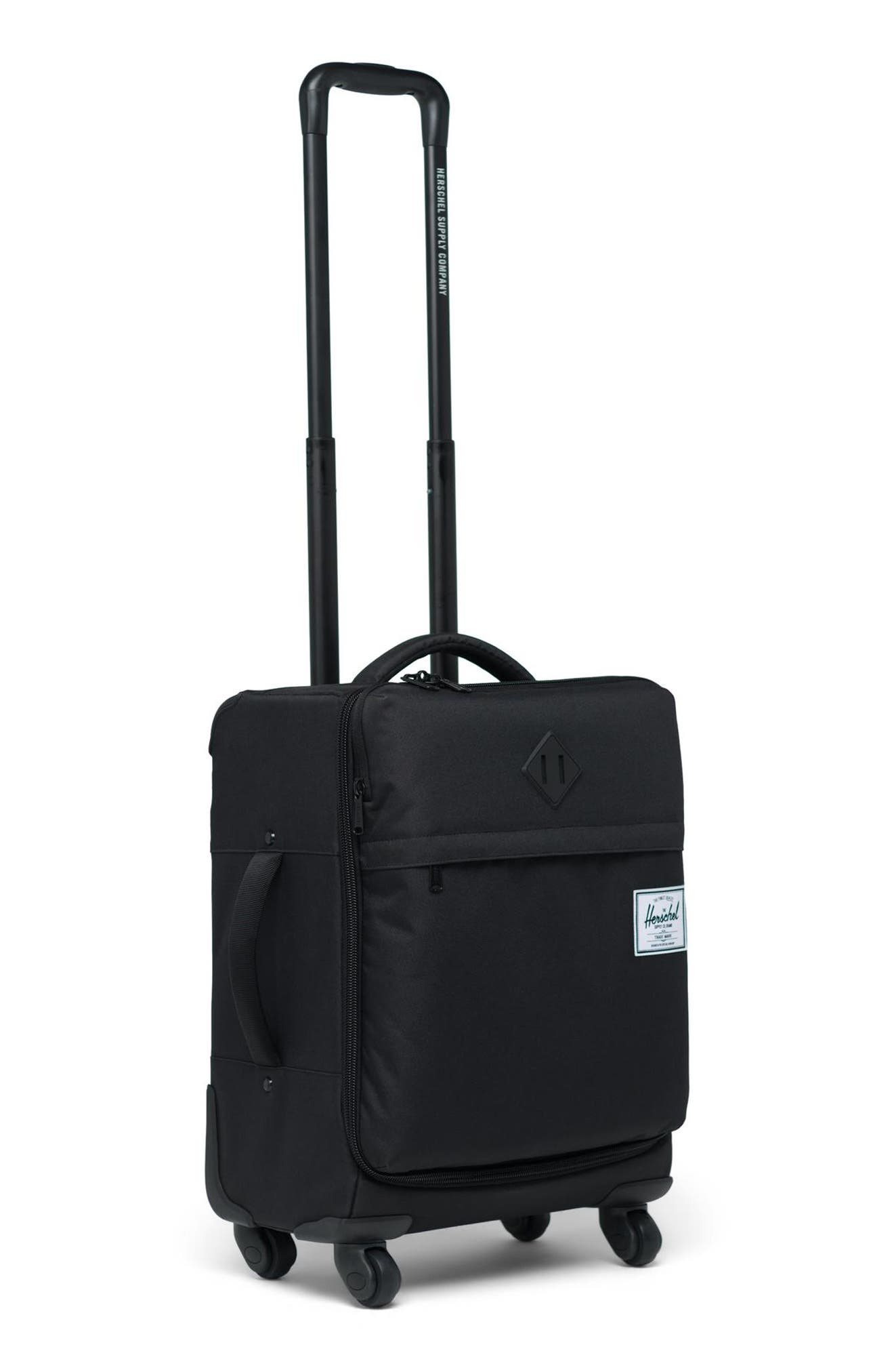 HERSCHEL SUPPLY CO.,                             Highland 22-Inch Spinner Carry-On,                             Alternate thumbnail 3, color,                             BLACK