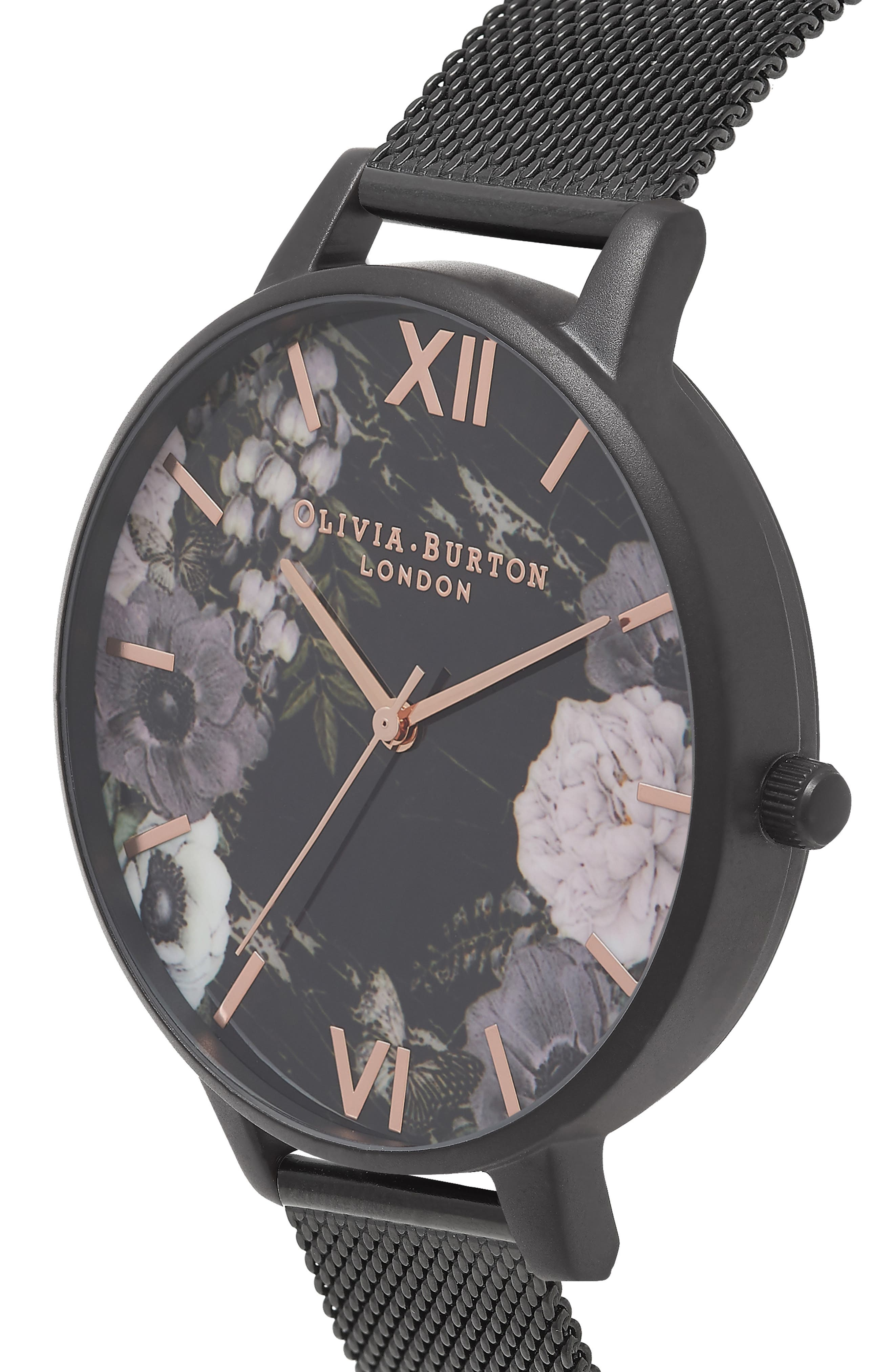 After Dark Mesh Strap Watch, 38mm,                             Alternate thumbnail 4, color,                             001