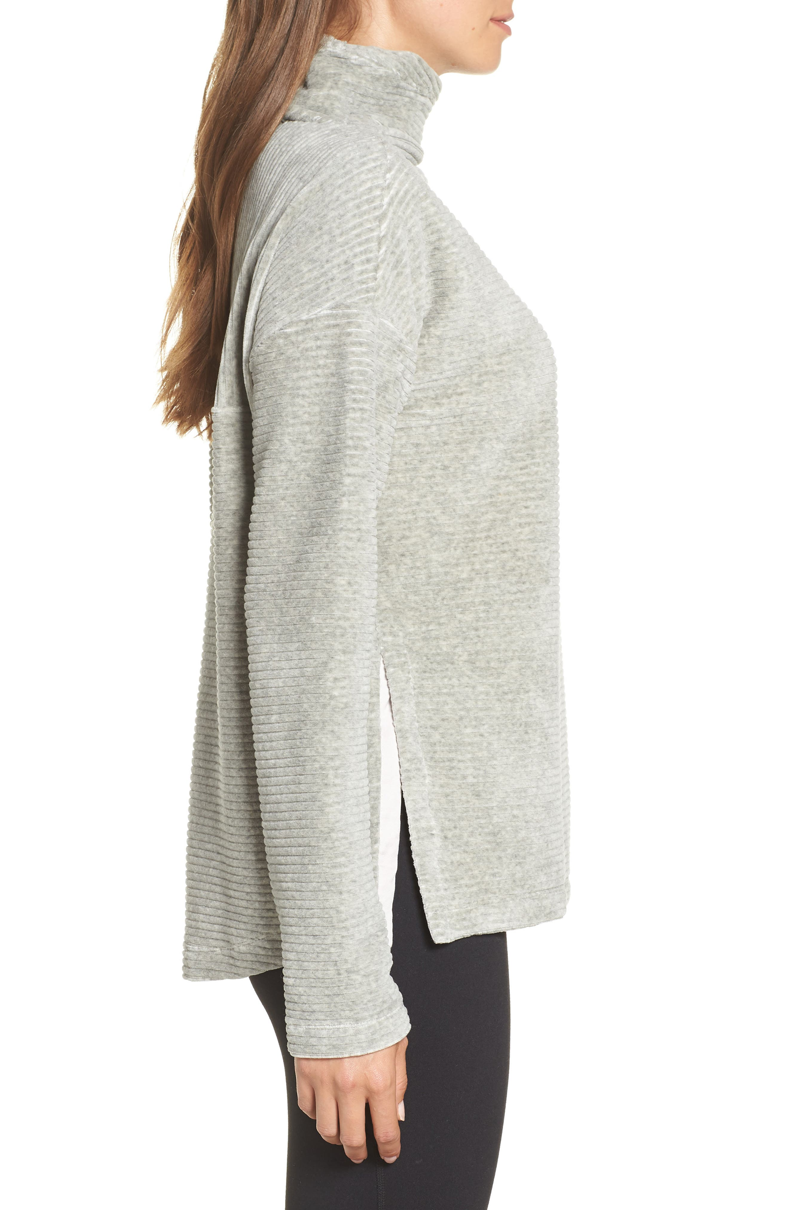 Bright Side Pullover,                             Alternate thumbnail 3, color,                             GREY CRYSTAL
