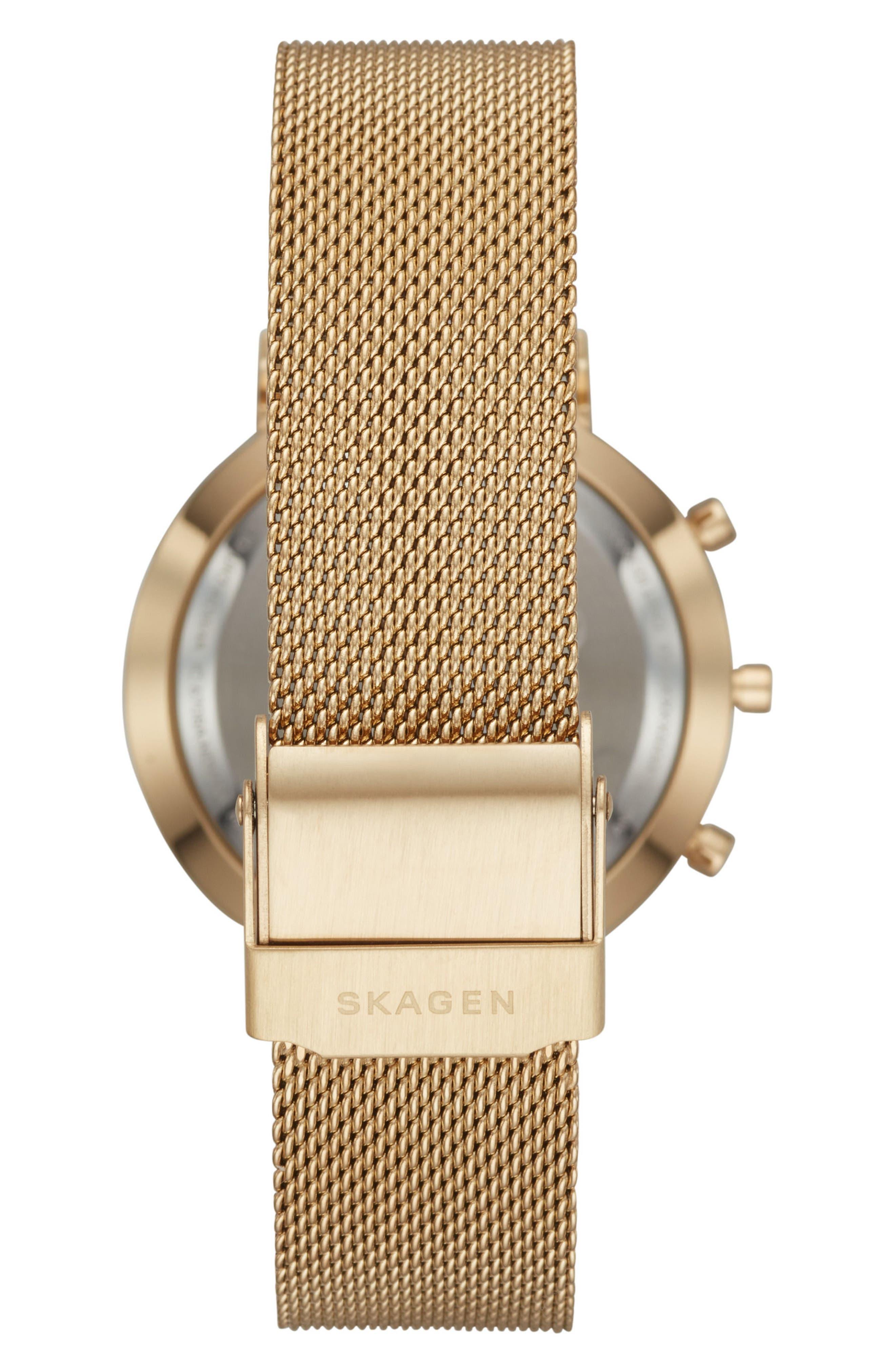 Hald Mesh Strap Hybrid Smart Watch, 34mm,                             Alternate thumbnail 5, color,