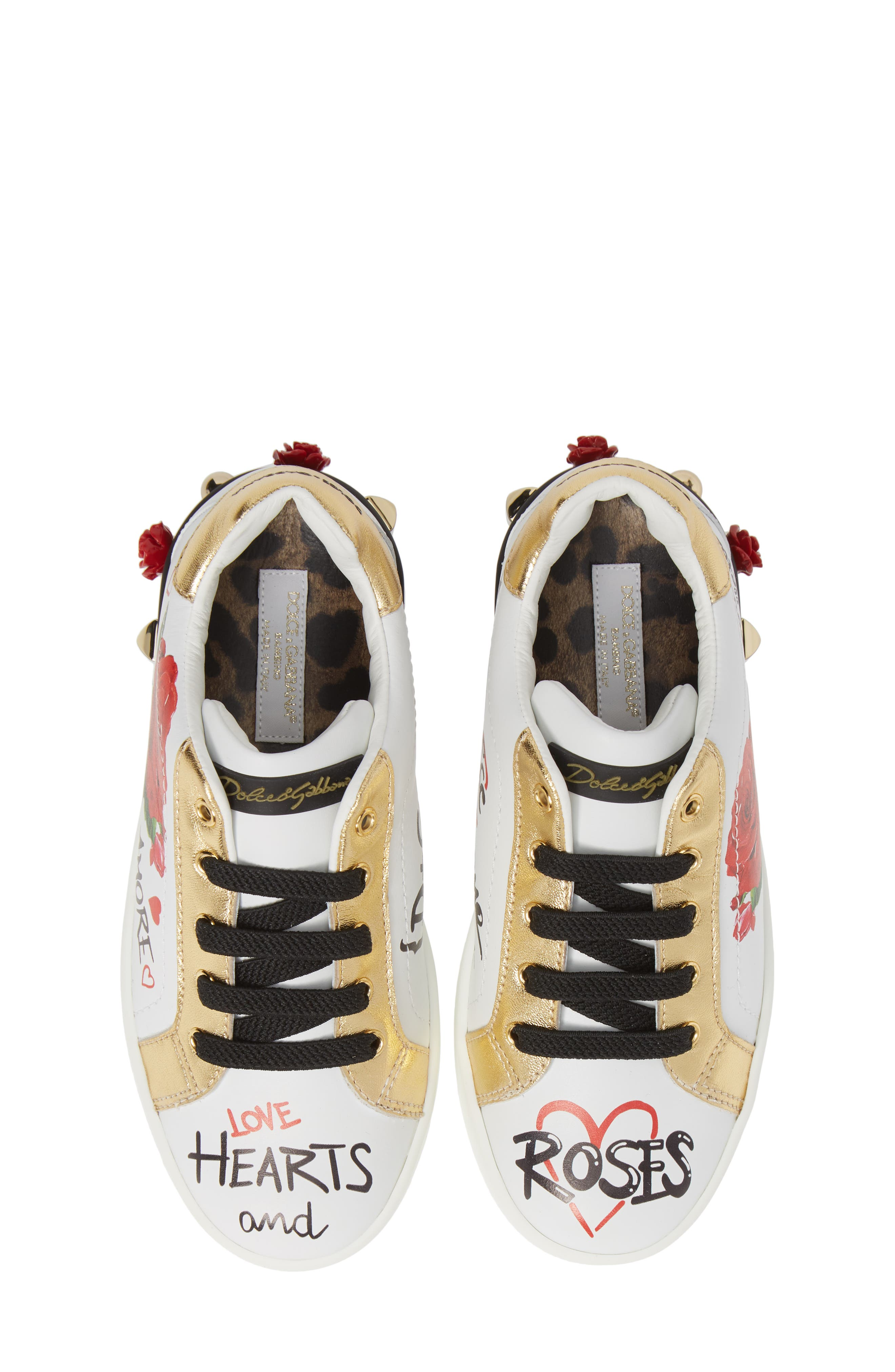 Amore Low Top Sneaker,                             Alternate thumbnail 5, color,                             WHITE
