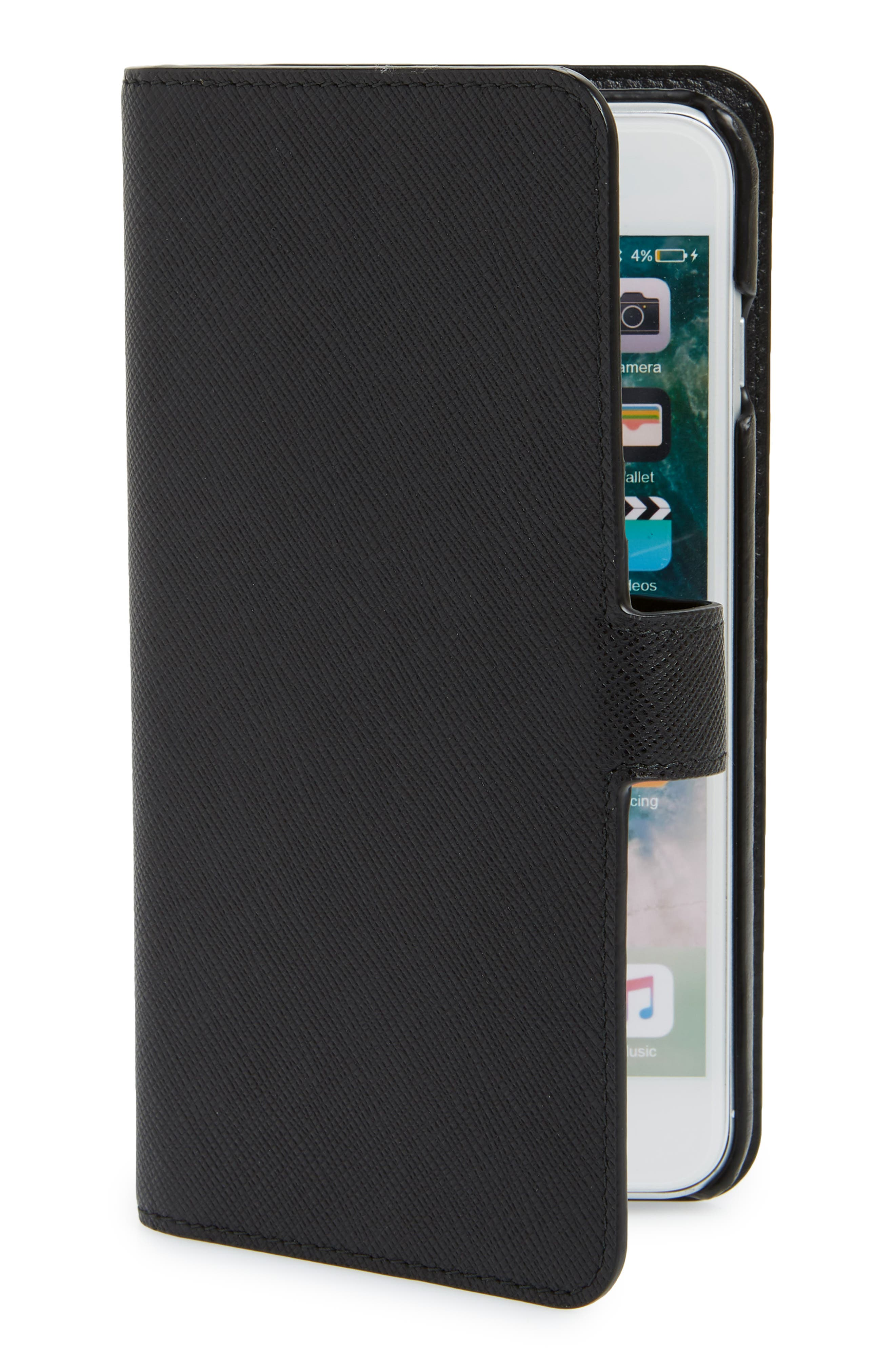 Saffiano iPhone 8 Wallet,                             Main thumbnail 1, color,
