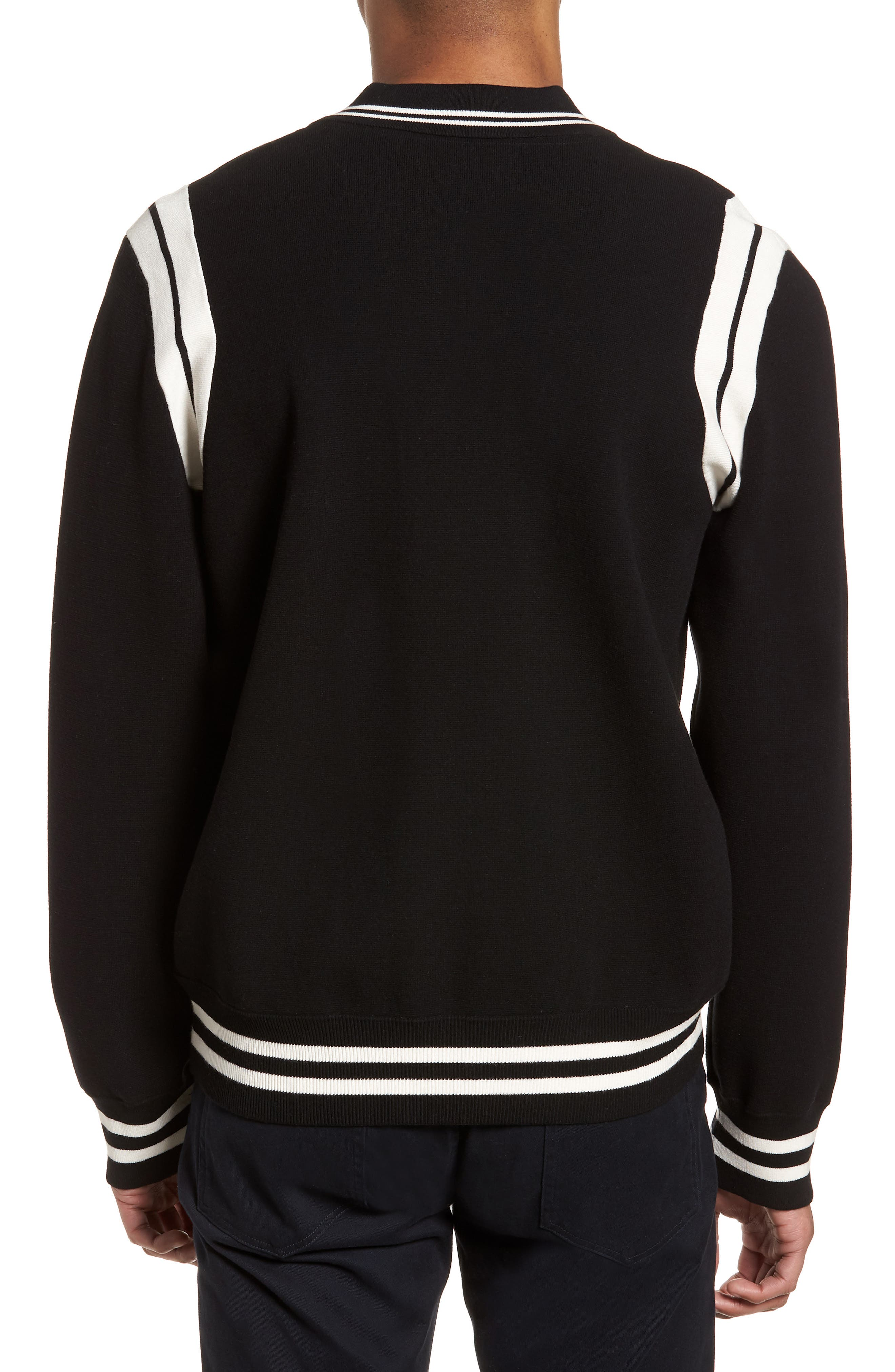 Varsity Regular Fit Jacket,                             Alternate thumbnail 2, color,                             001