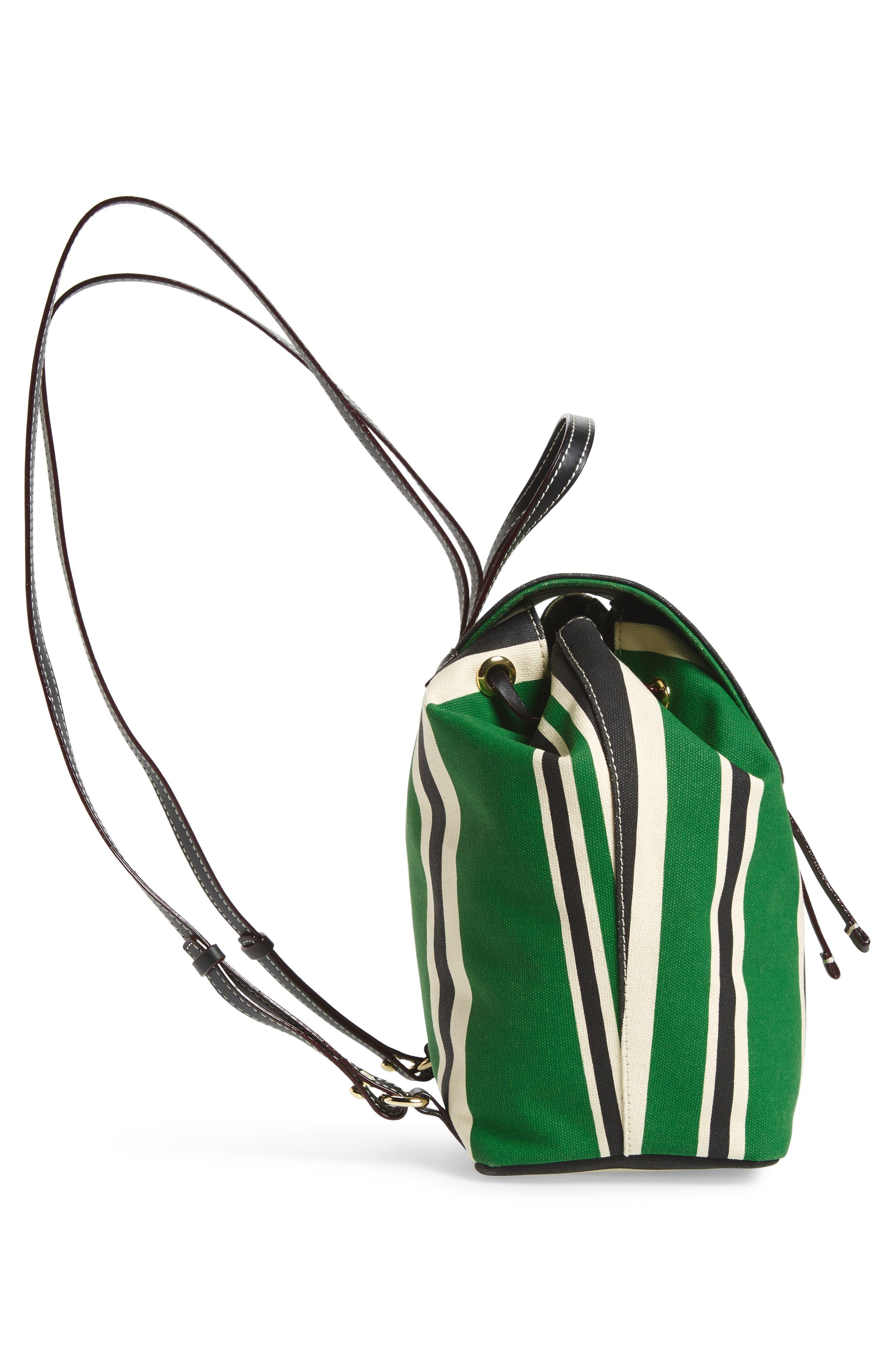 Ann Stripe Canvas Drawstring Backpack,                             Alternate thumbnail 5, color,                             300