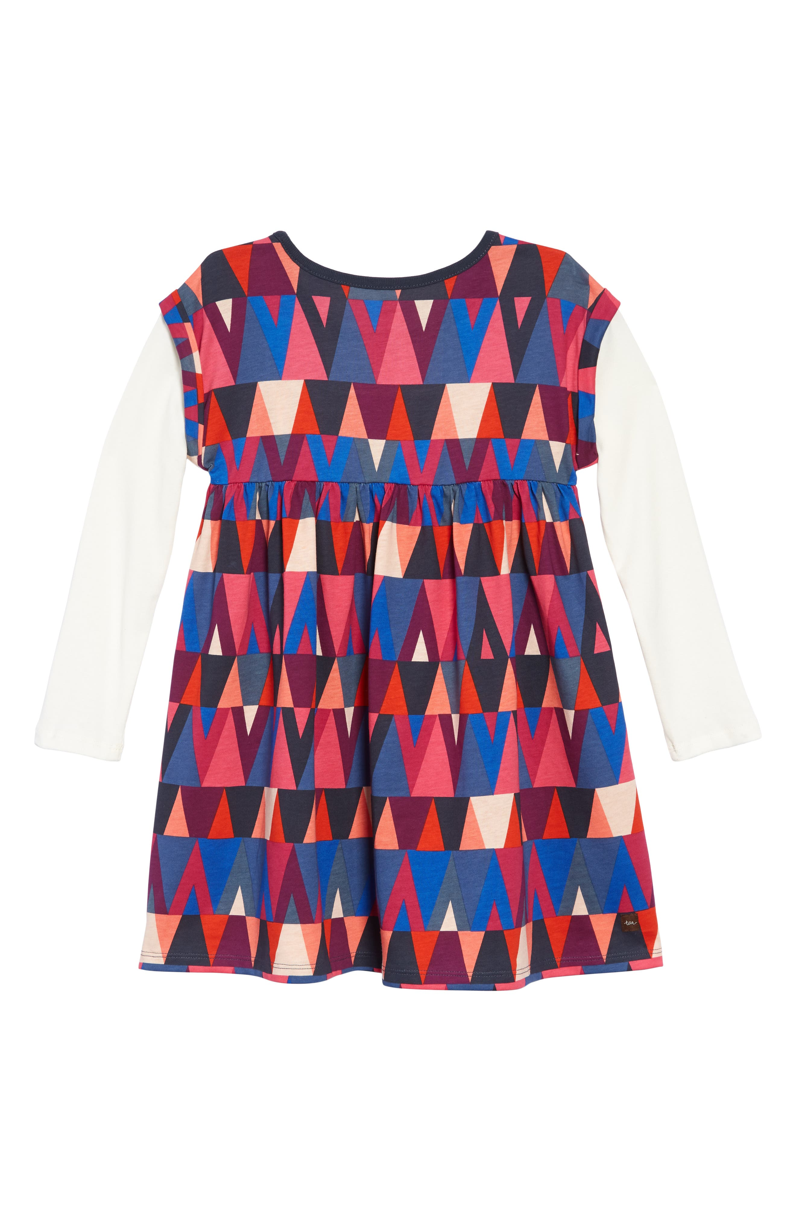 Print Layered Sleeve Dress,                             Alternate thumbnail 2, color,                             GIBSON GEO