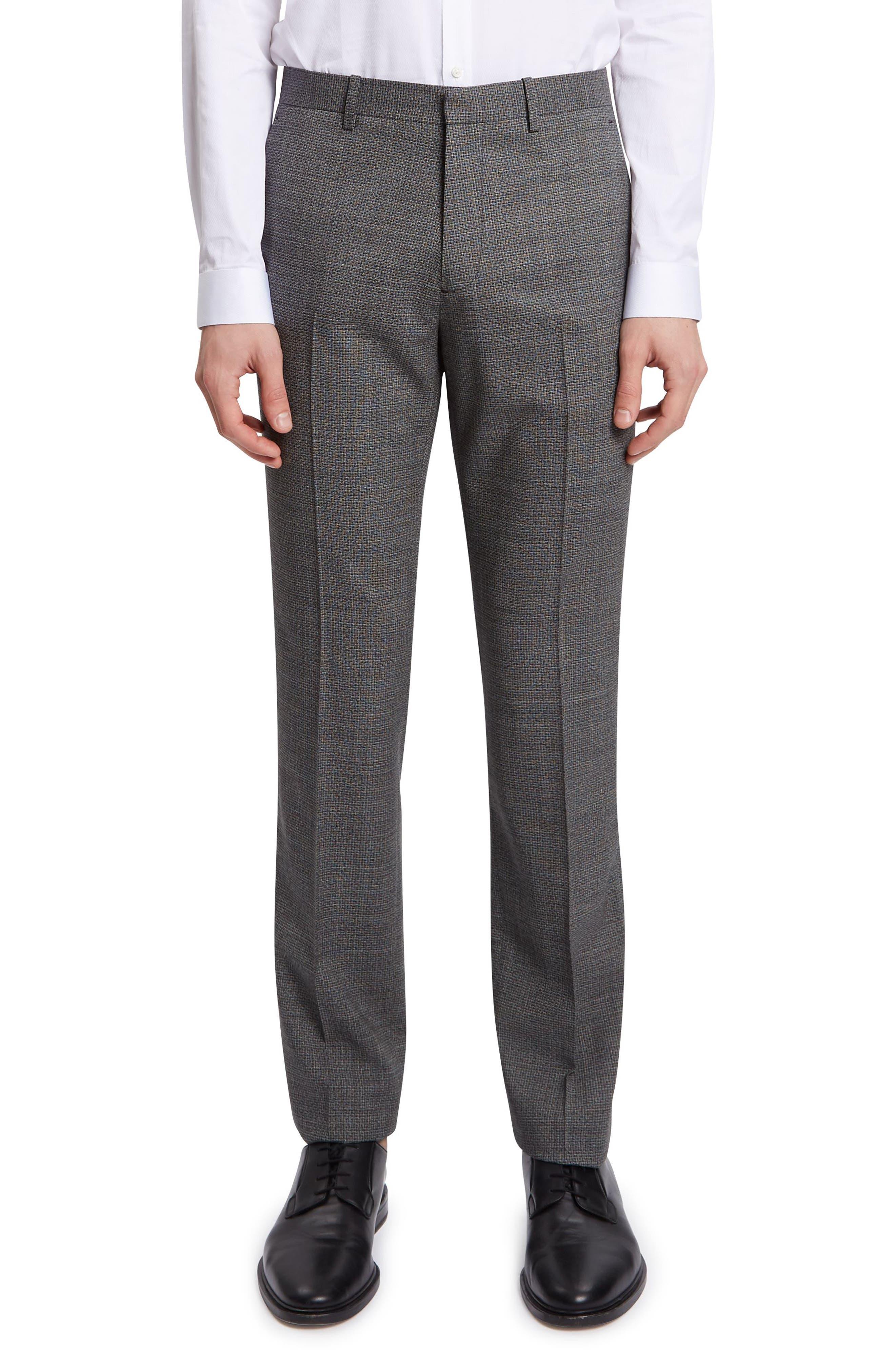 THEORY,                             Mayer Marled Suit Pants,                             Main thumbnail 1, color,                             BLACK MULTI