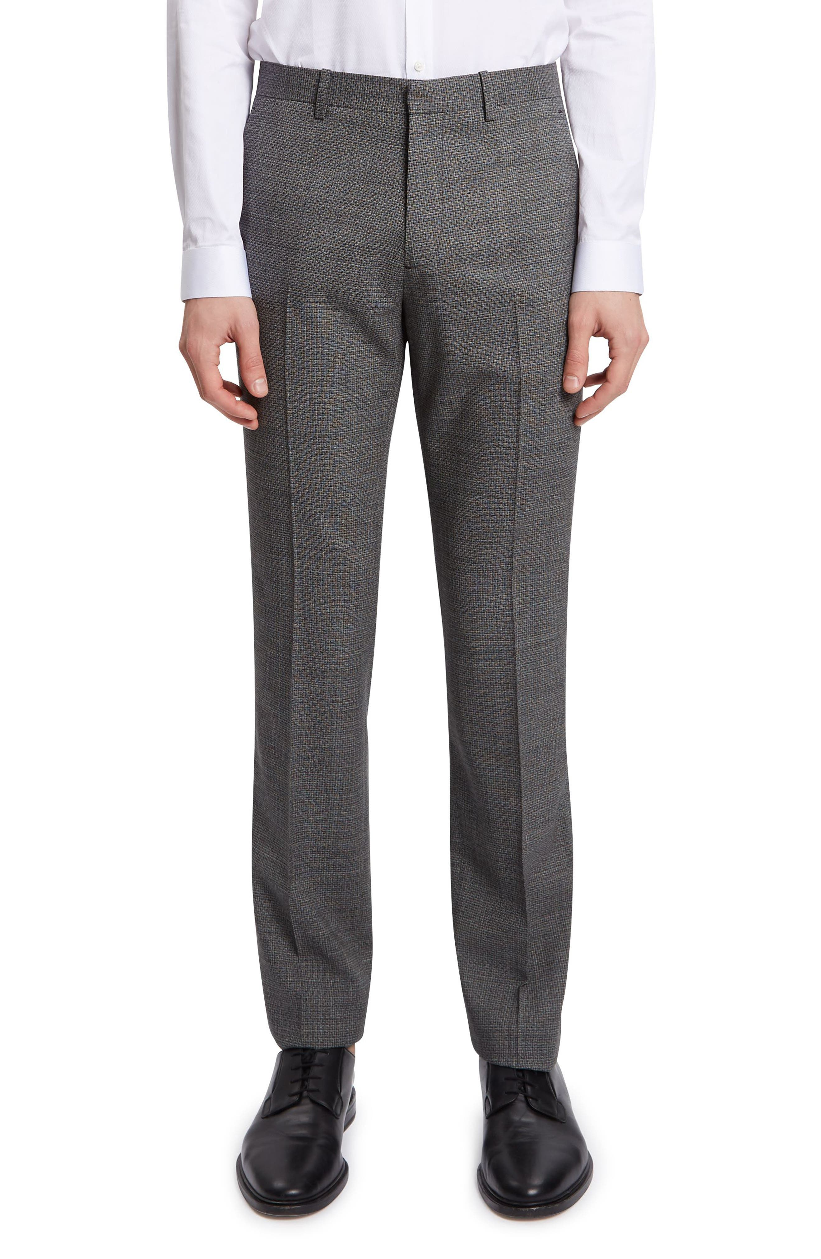 THEORY Mayer Marled Suit Pants, Main, color, BLACK MULTI